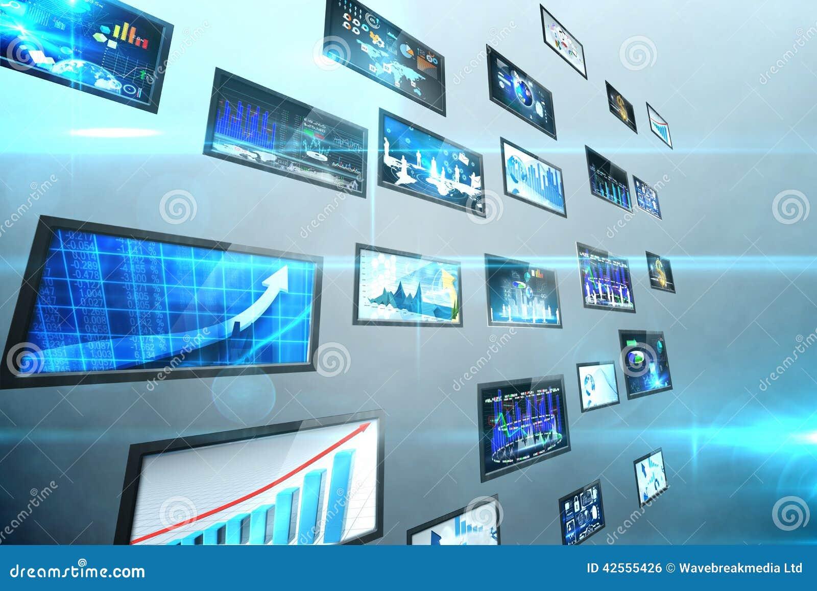 Κολάζ οθόνης που παρουσιάζει επιχειρησιακές εικόνες