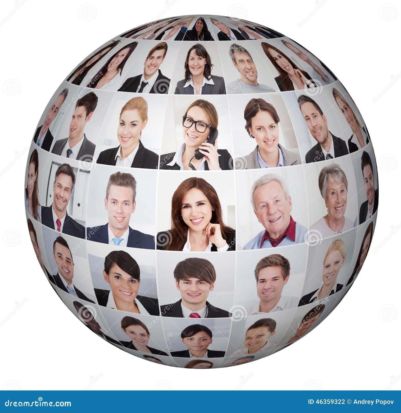 Κολάζ των διαφορετικών επιχειρηματιών