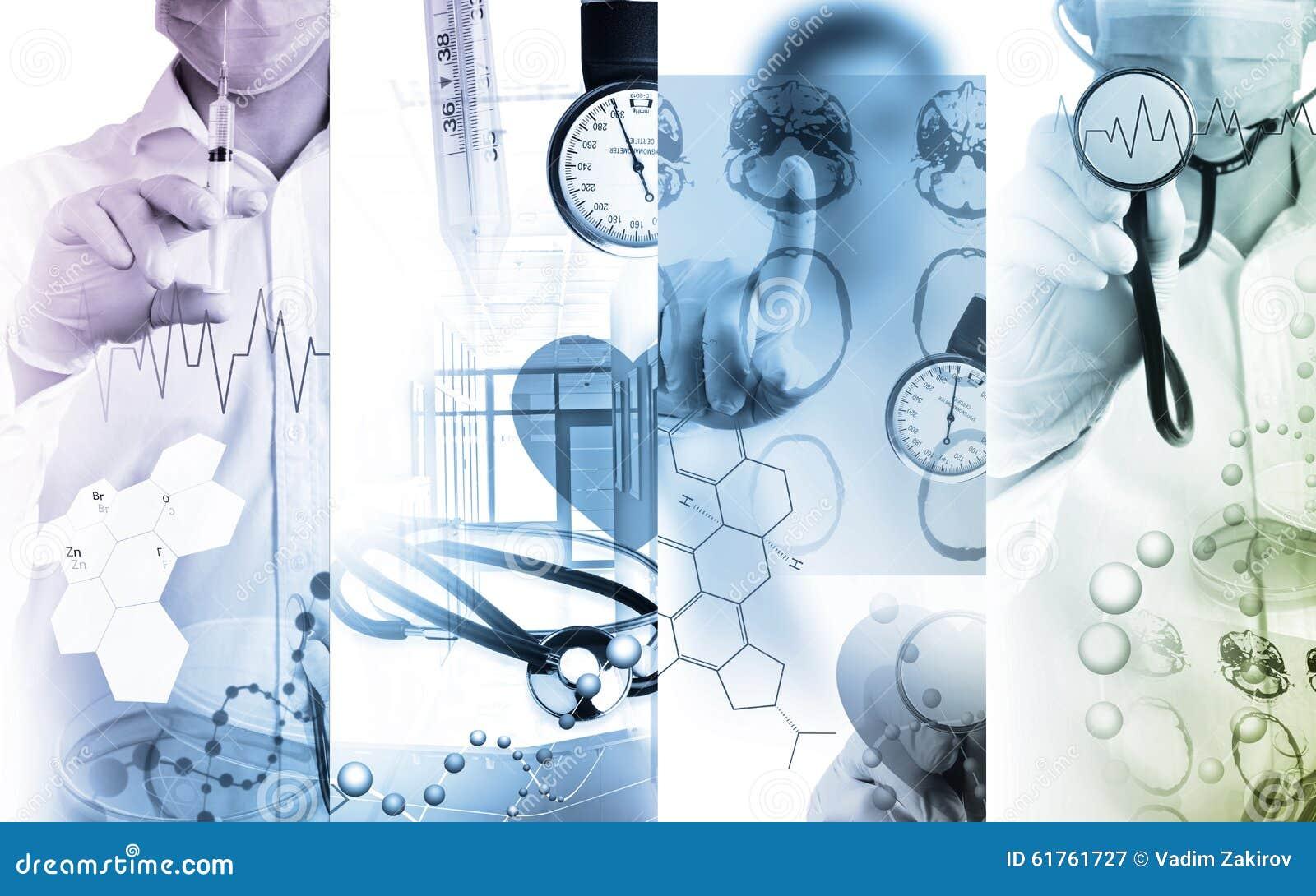 Κολάζ φωτογραφιών ιατρικών υπηρεσιών