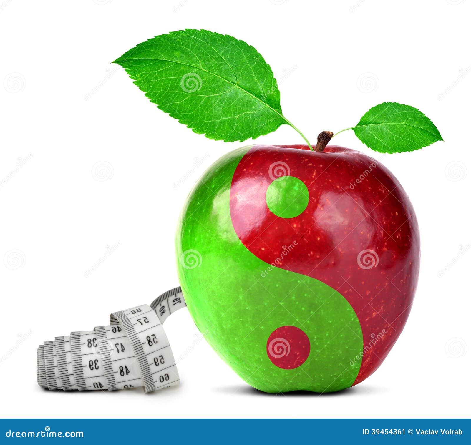 Κολάζ Yang Yin από το μήλο