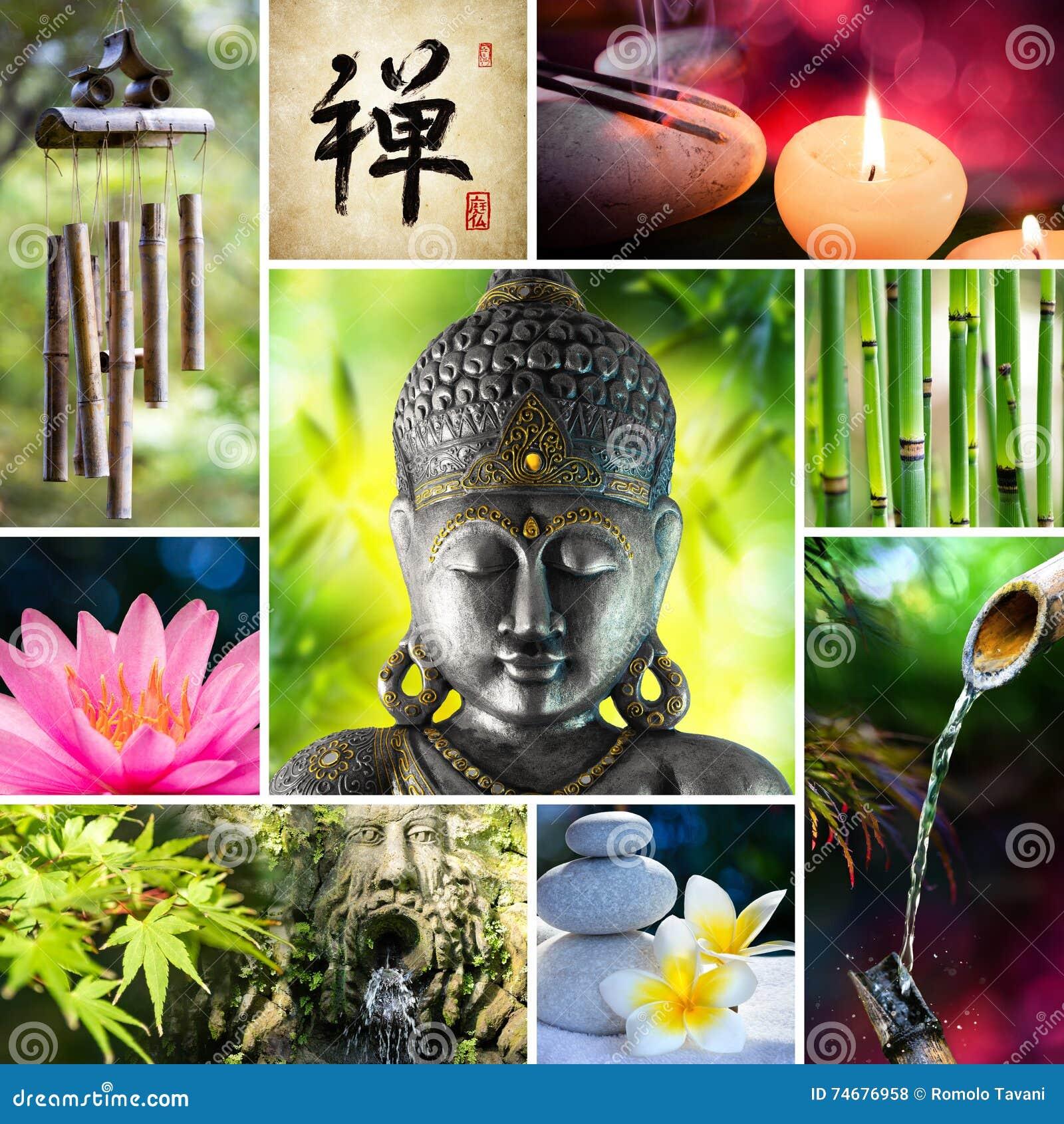 Κολάζ Zen - ασιατικό μωσαϊκό