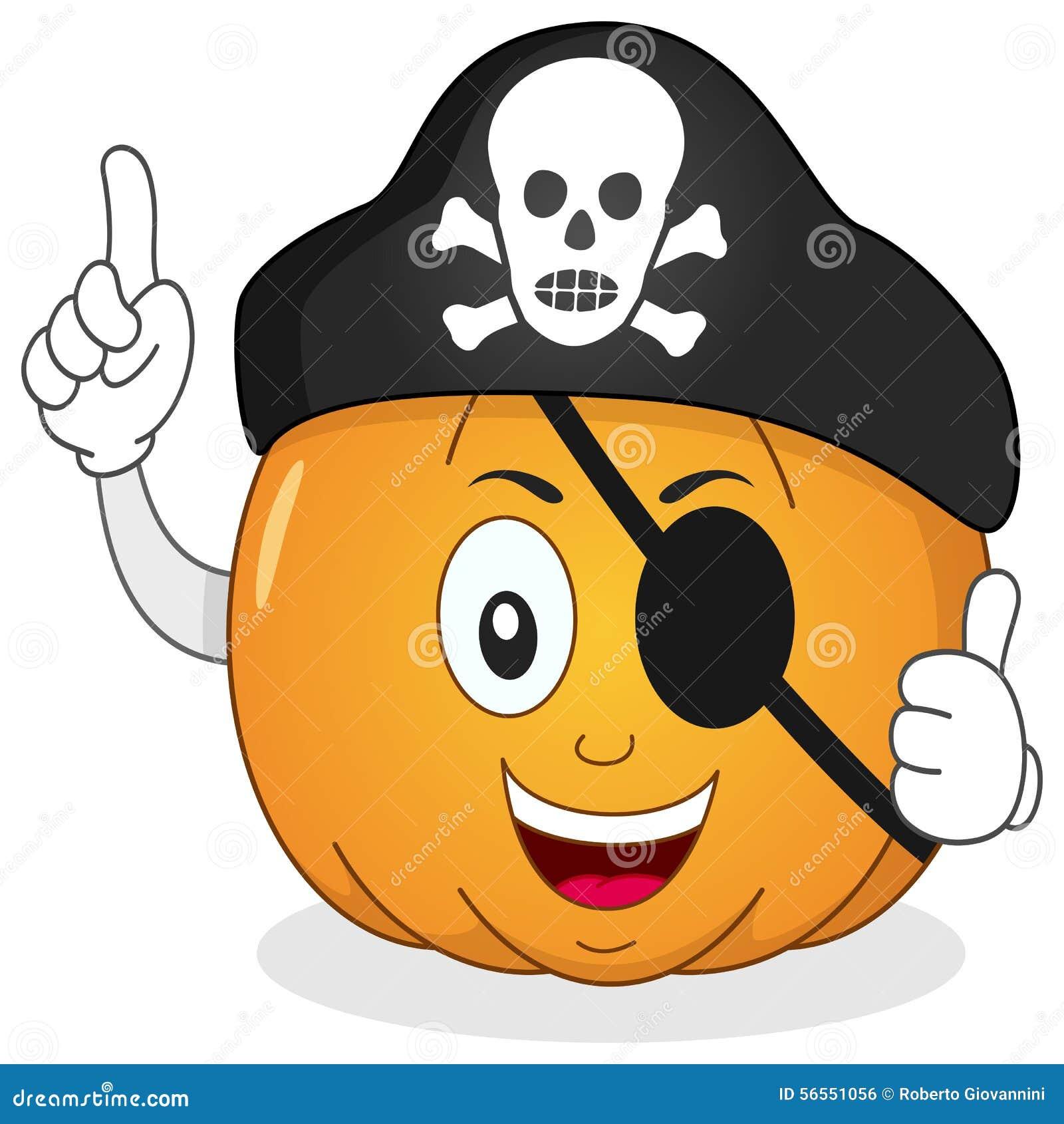 Download Κολοκύθα πειρατών με το μπάλωμα ματιών & το καπέλο κρανίων Διανυσματική απεικόνιση - εικονογραφία από χέρια, μασκότ: 56551056