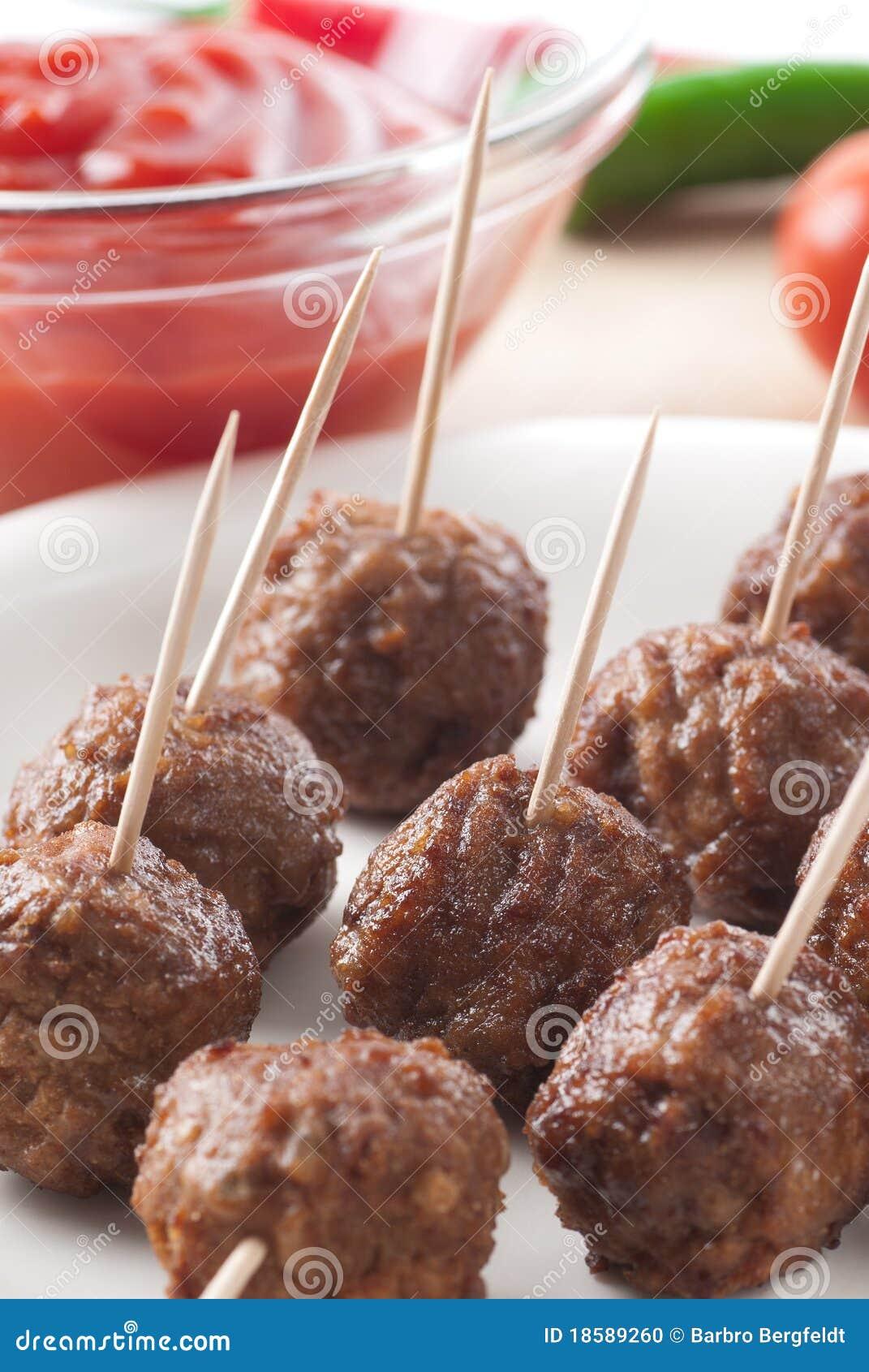 κρέας σφαιρών ορεκτικών
