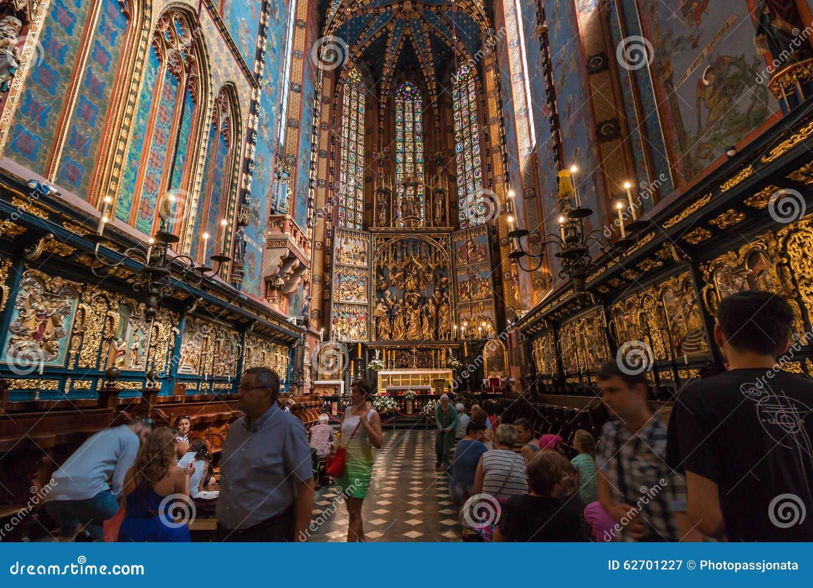 Κρακοβία (Κρακοβία) - εσωτερικό εκκλησιών της Πολωνίας Άγιος MaryÂ