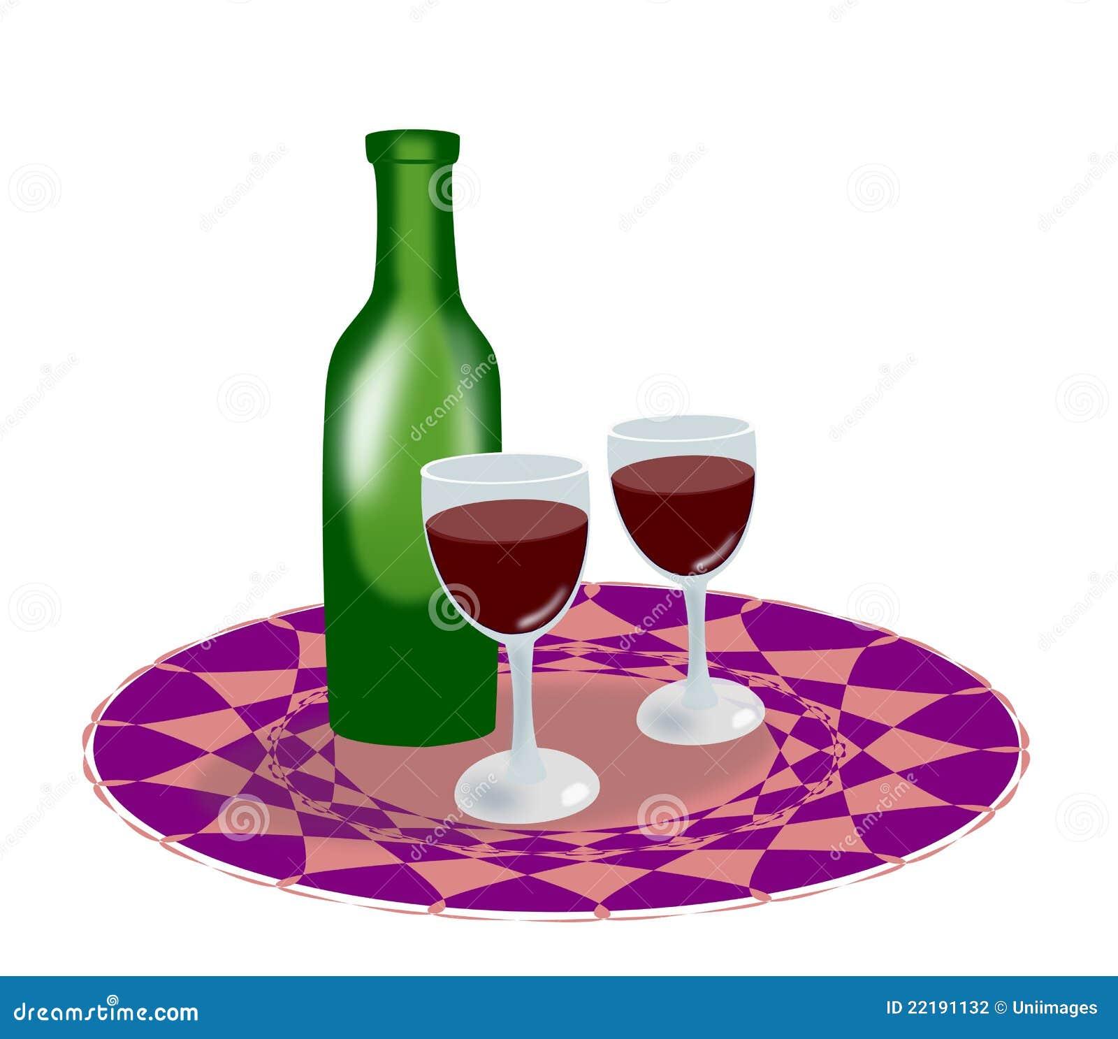 κρασί γυαλιών μπουκαλιώ&nu