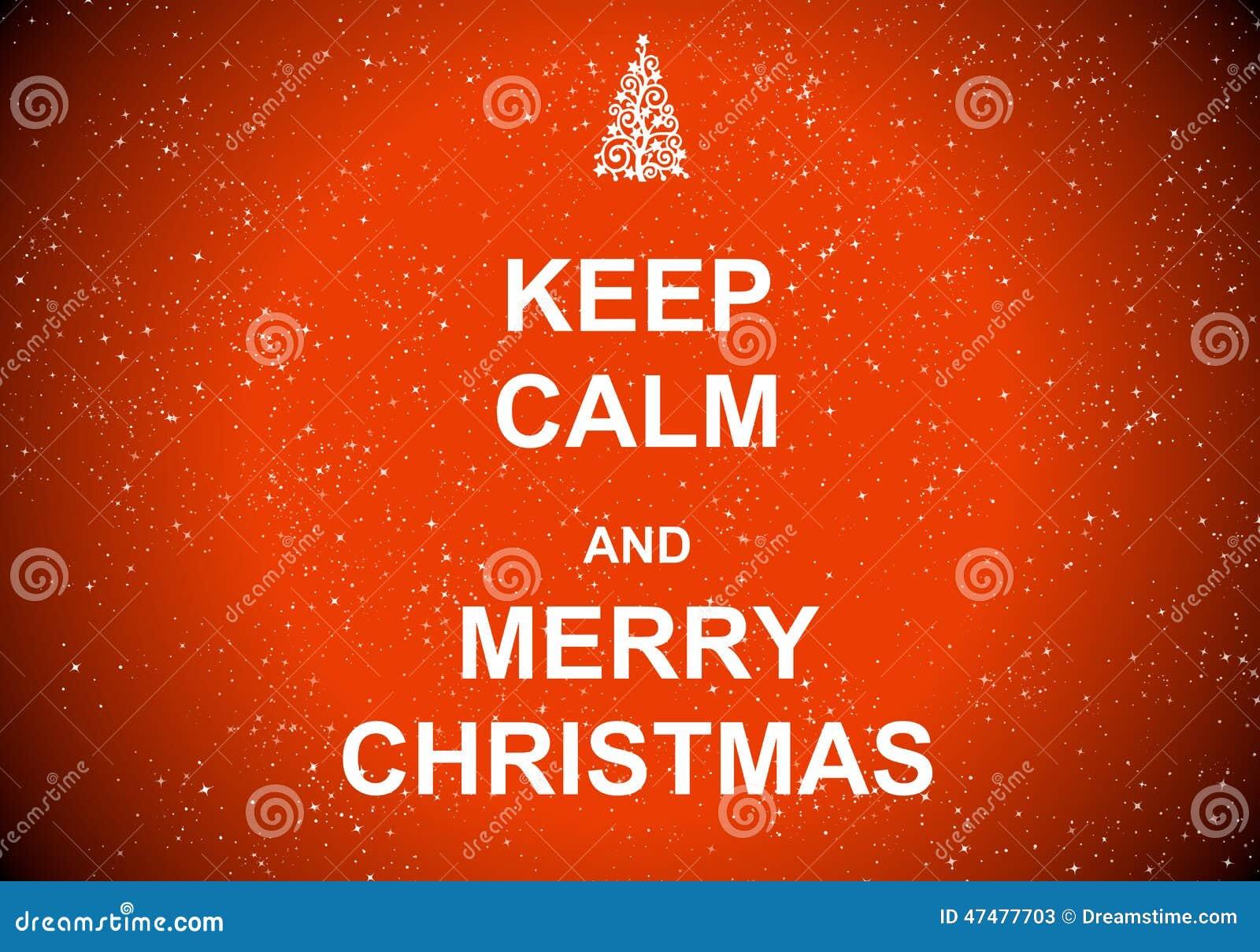 Κρατήστε ήρεμος και Χαρούμενα Χριστούγεννα