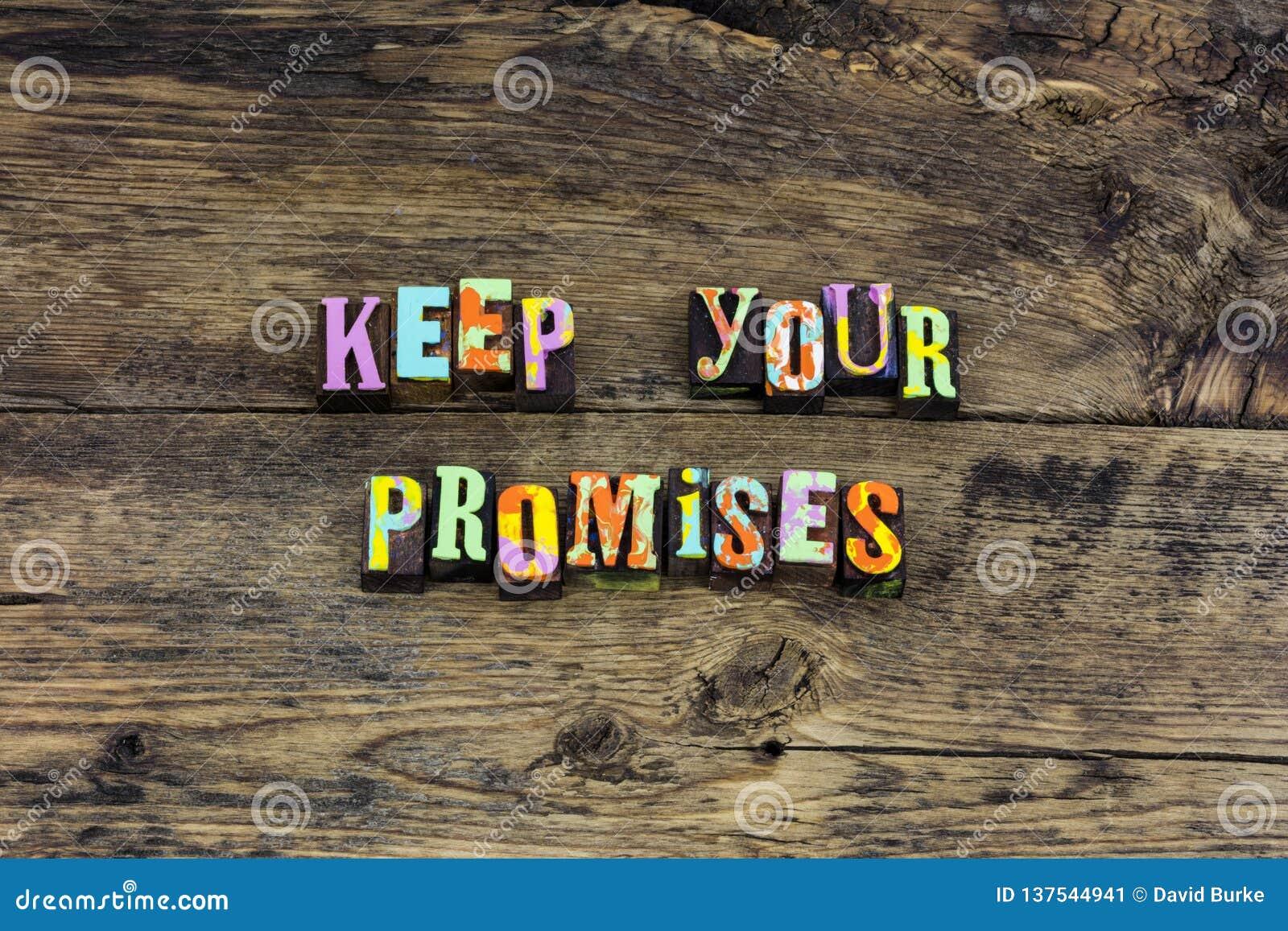 Κρατήστε την τυπογραφία καρδιών ακεραιότητας τιμιότητας υπόσχεσης