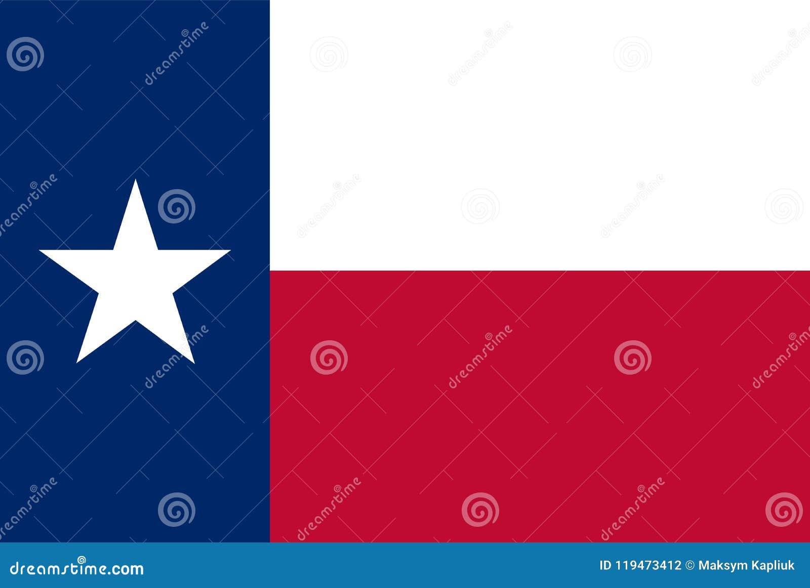 Κρατική διανυσματική σημαία του Τέξας