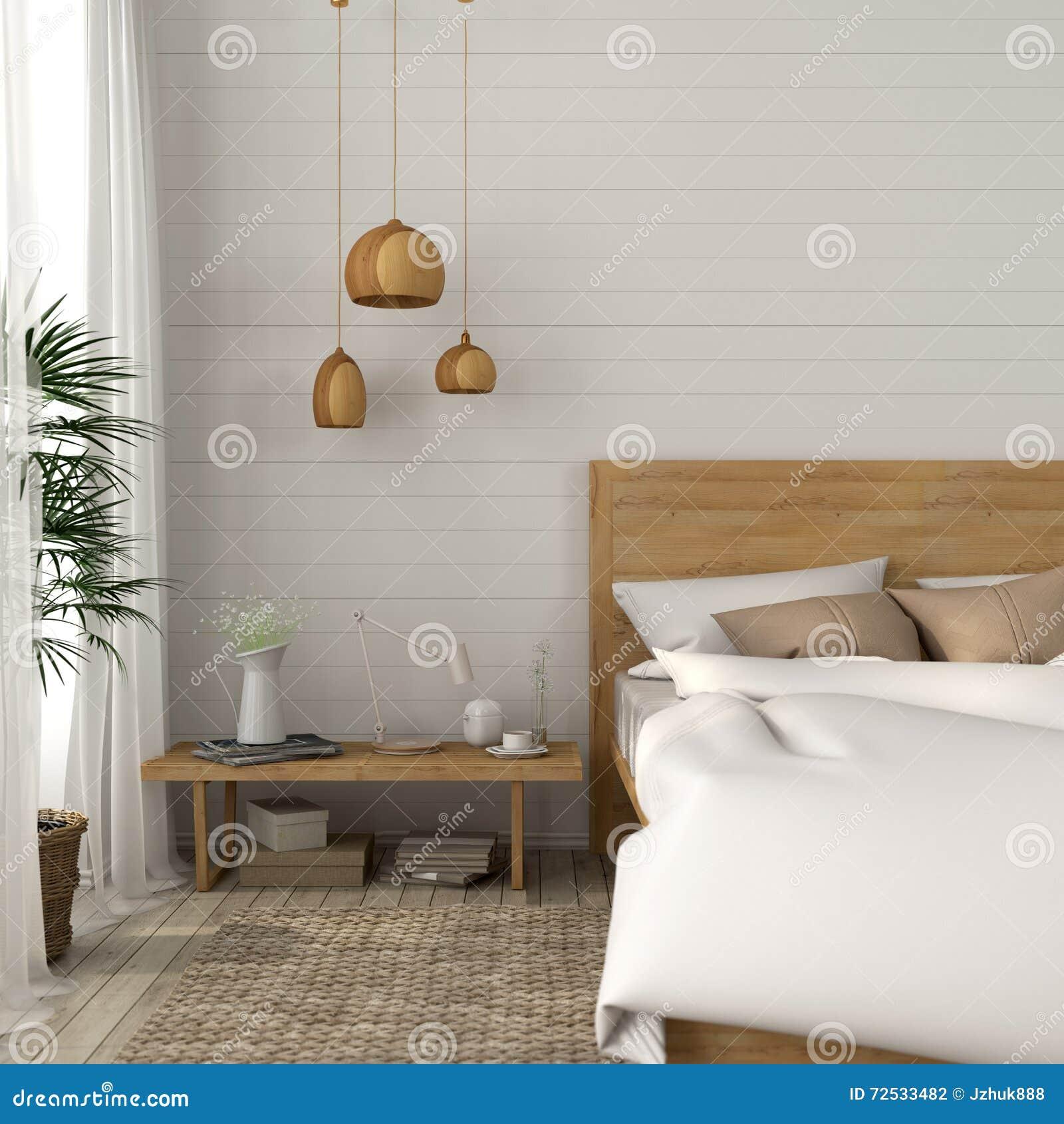 Κρεβατοκάμαρα με ελαφριοί μπεζ τόνοι Στοκ Εικόνες - εικόνα από ... ec081104626