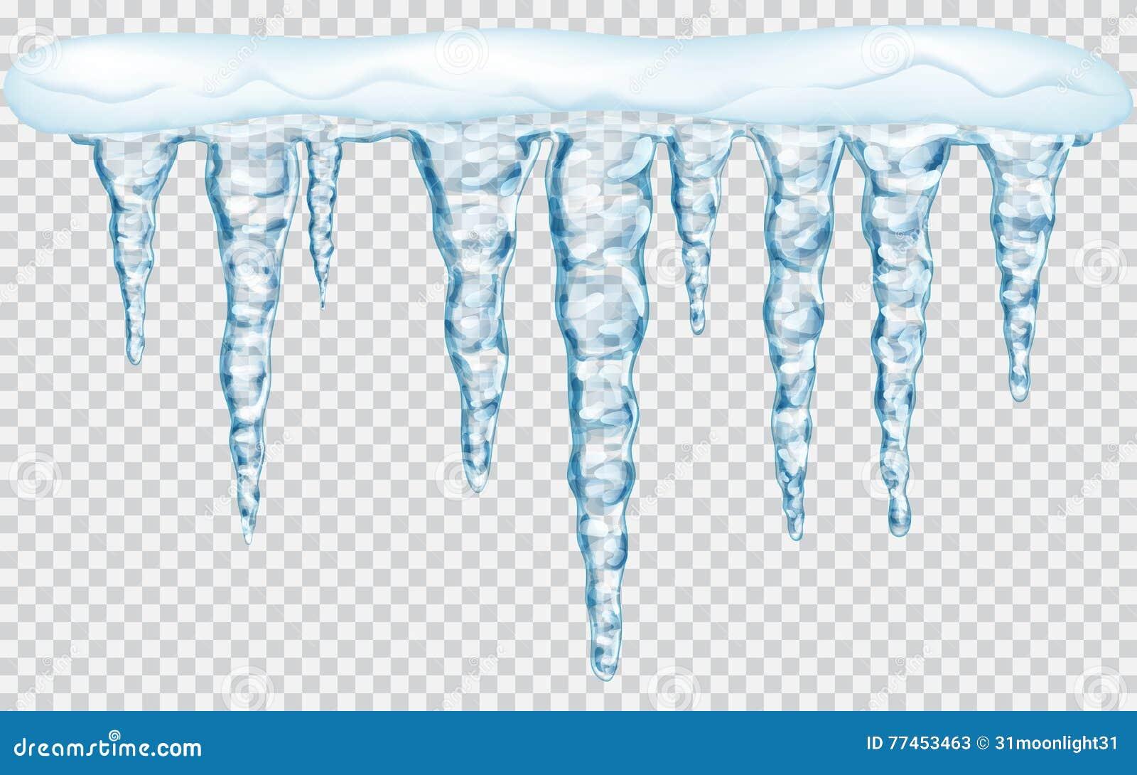 Κρεμώντας παγάκια με το χιόνι