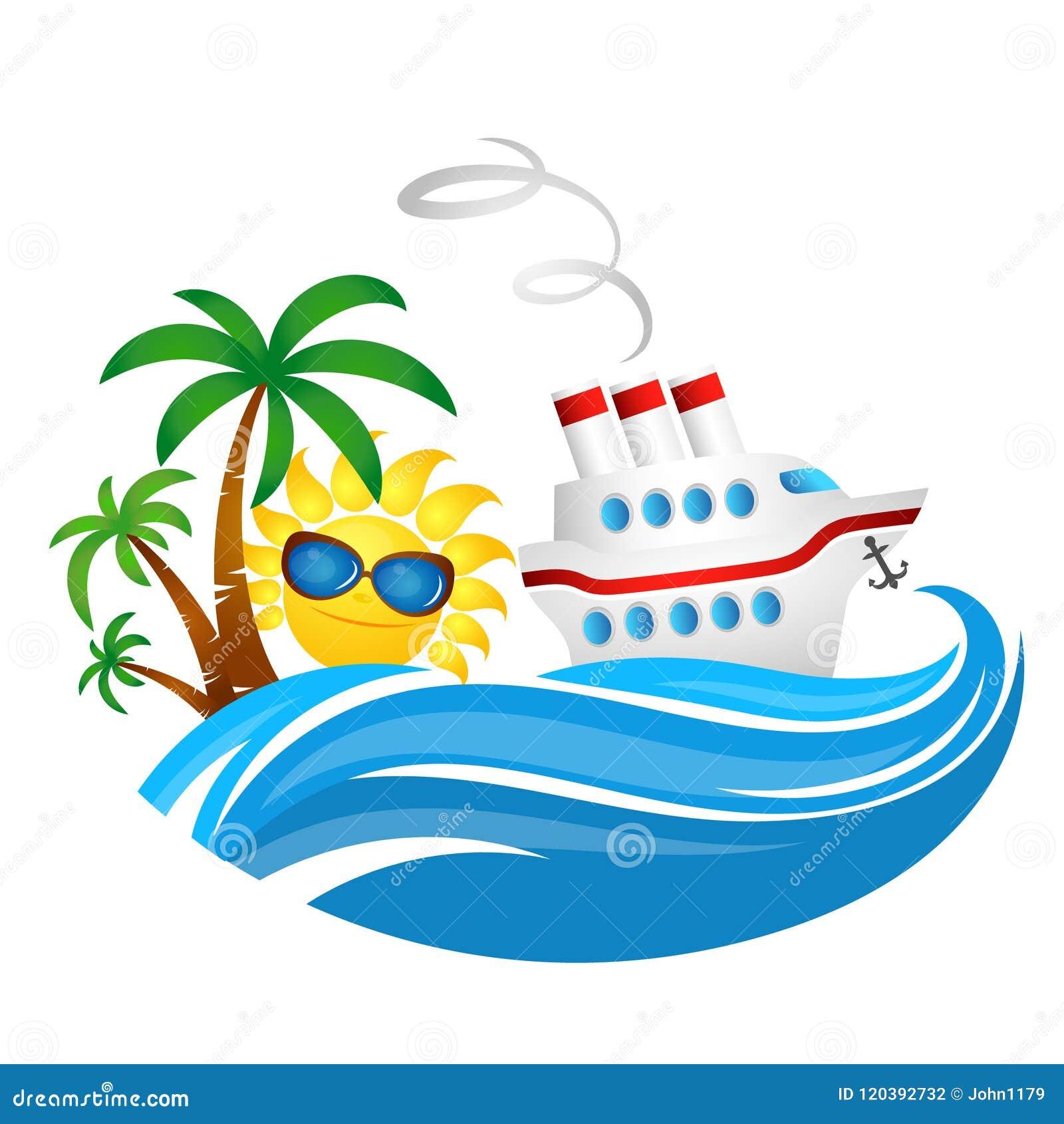 Κρουαζιερόπλοιο στο κύμα και τον ήλιο