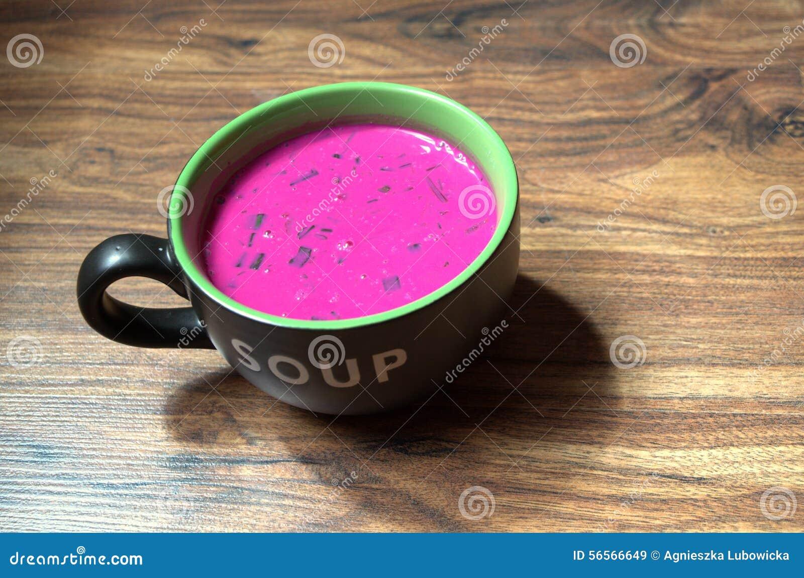 Download Κρύα σούπα τεύτλων στοκ εικόνα. εικόνα από ντομάτα, φλυτζάνι - 56566649