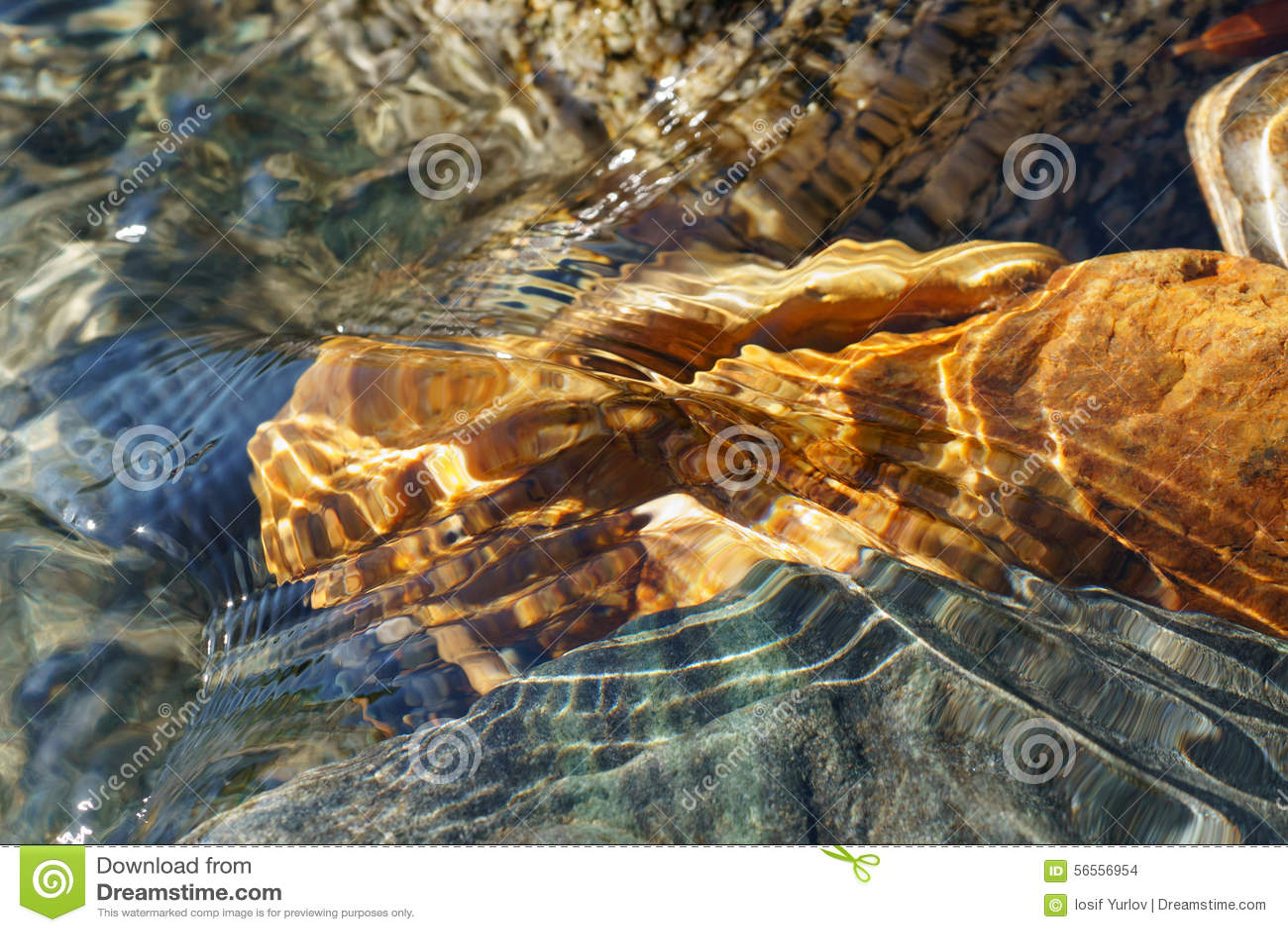 Download Κρύσταλλο - καθαρίστε το νερό του μικρού ρυακιού στη στέπα Altai Στοκ Εικόνες - εικόνα από φρέσκος, τοπίο: 56556954