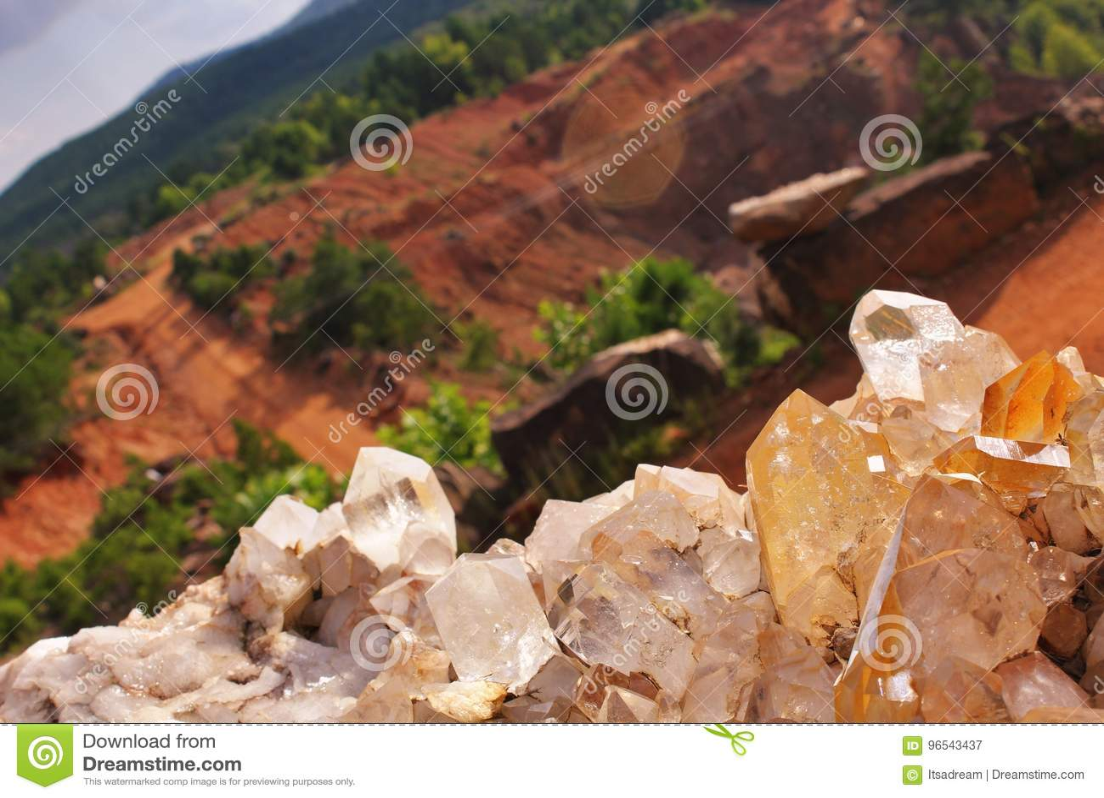 Κρύσταλλο στο ορυχείο Ron Coleman