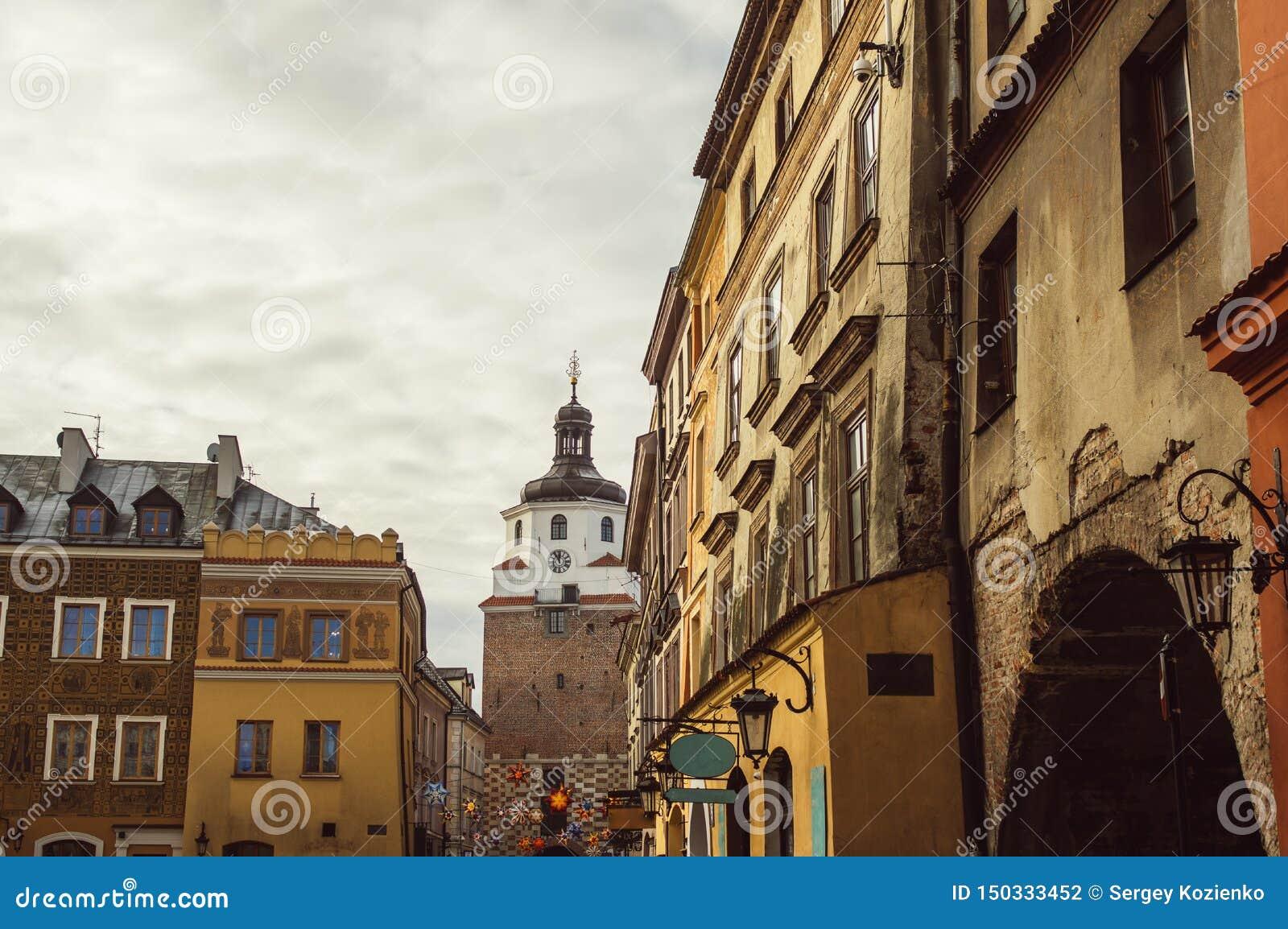 Κτήρια στο παλαιό κέντρο του Lublin, Πολωνία