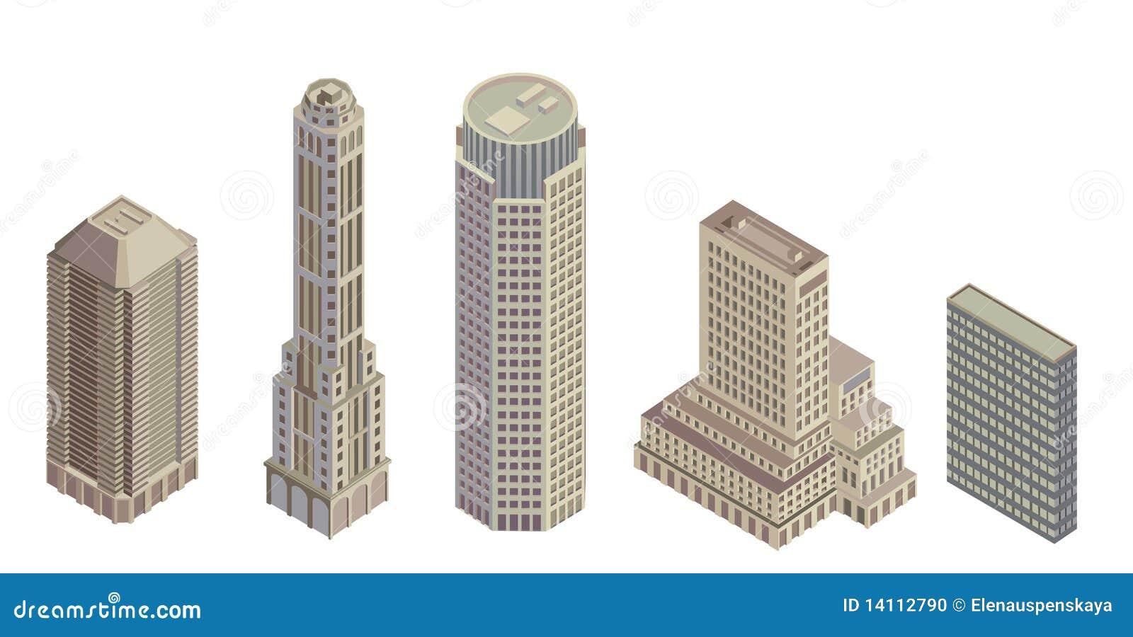 κτήρια isometric