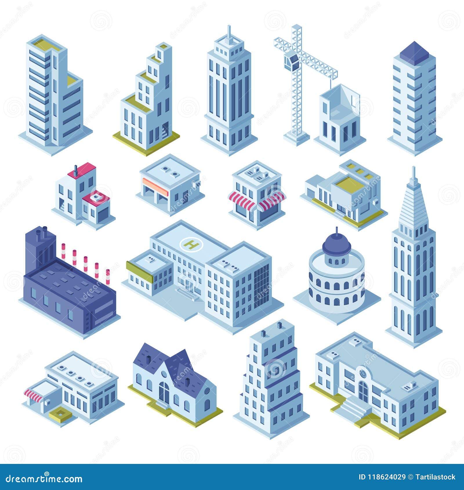 Κτήριο ουρανοξυστών και επιχειρησιακό γραφείο στη στο κέντρο της πόλης περιοχή Τα κτήρια κωμοπόλεων αρχιτεκτονικής για την πόλη χ