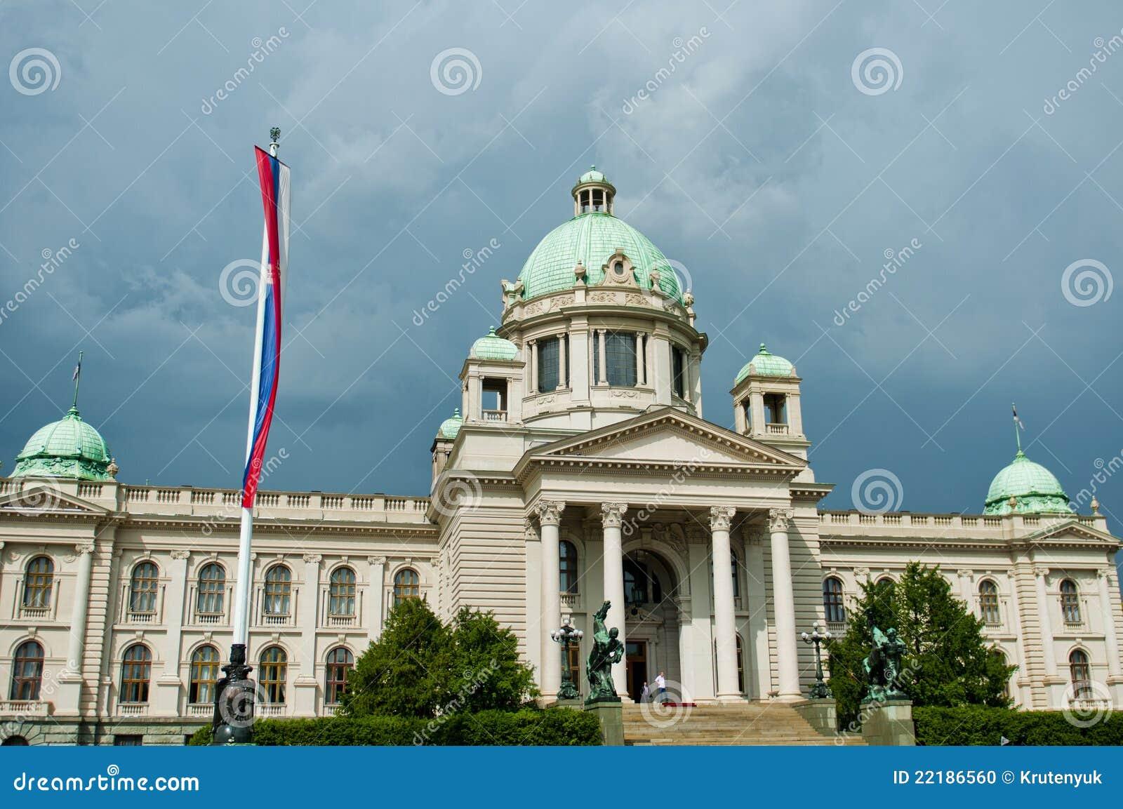 Κτήριο του Κοινοβουλίου σε Βελιγράδι, Σερβία