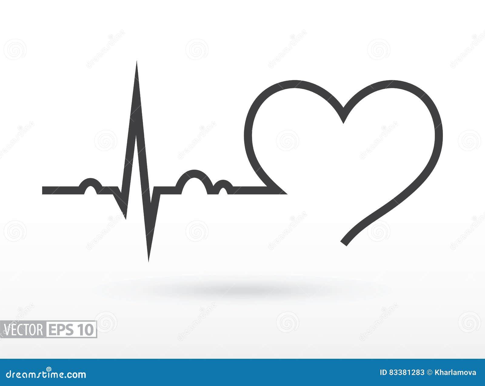 κτυπήστε την καρδιά καρδιογράφημα Καρδιακός κύκλος μαύρη ιατρική προστασία συκωτιού εικονιδίων αλλαγής απλά άσπρη