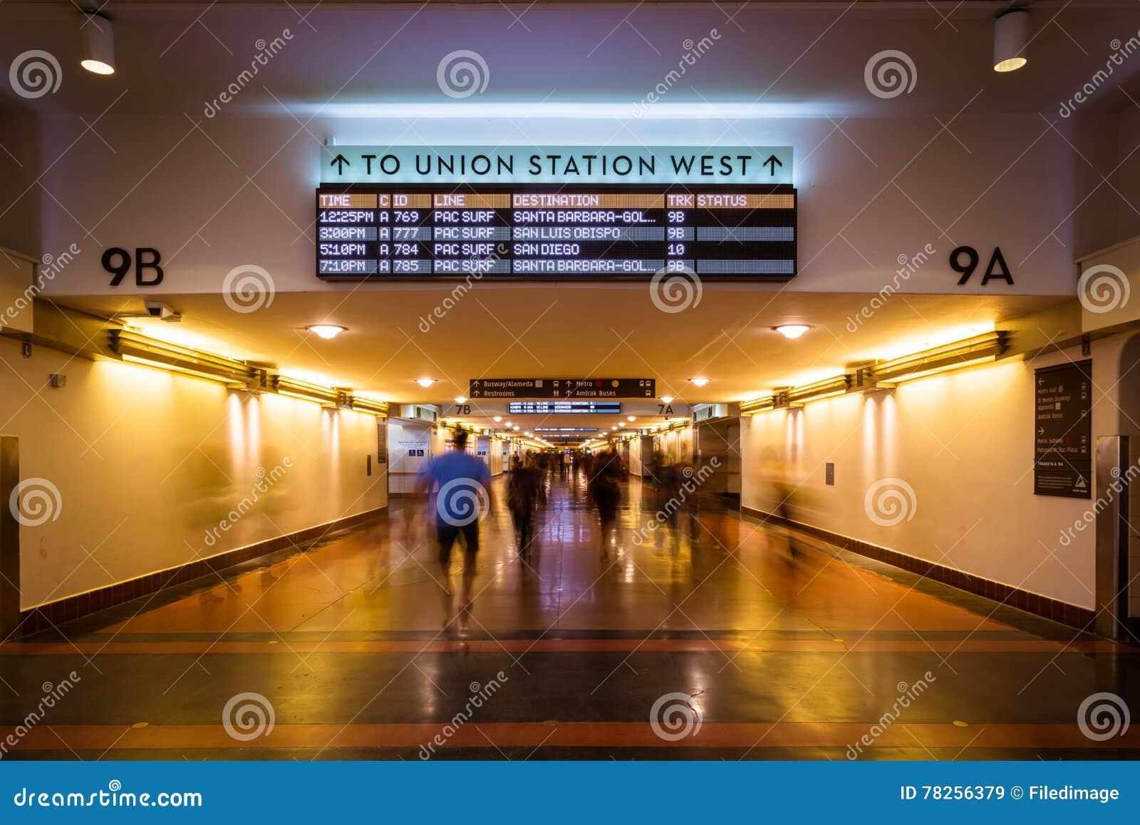 Κυκλοφορία ποδιών σταθμών ένωσης του Λος Άντζελες