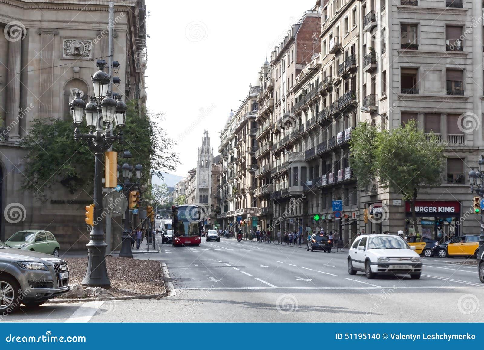 Κυκλοφορία στις οδούς της Βαρκελώνης