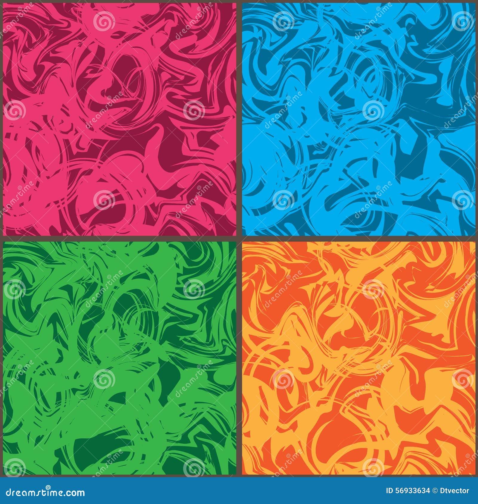 Κυμάτων τρελλό άνευ ραφής σχέδιο πλαισίων χρώματος καθορισμένο