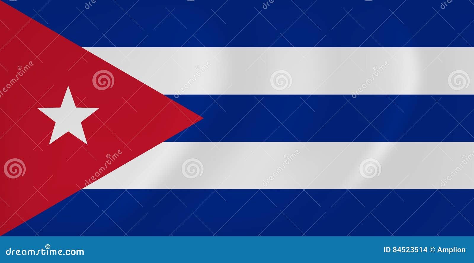 Κυματίζοντας σημαία της Κούβας