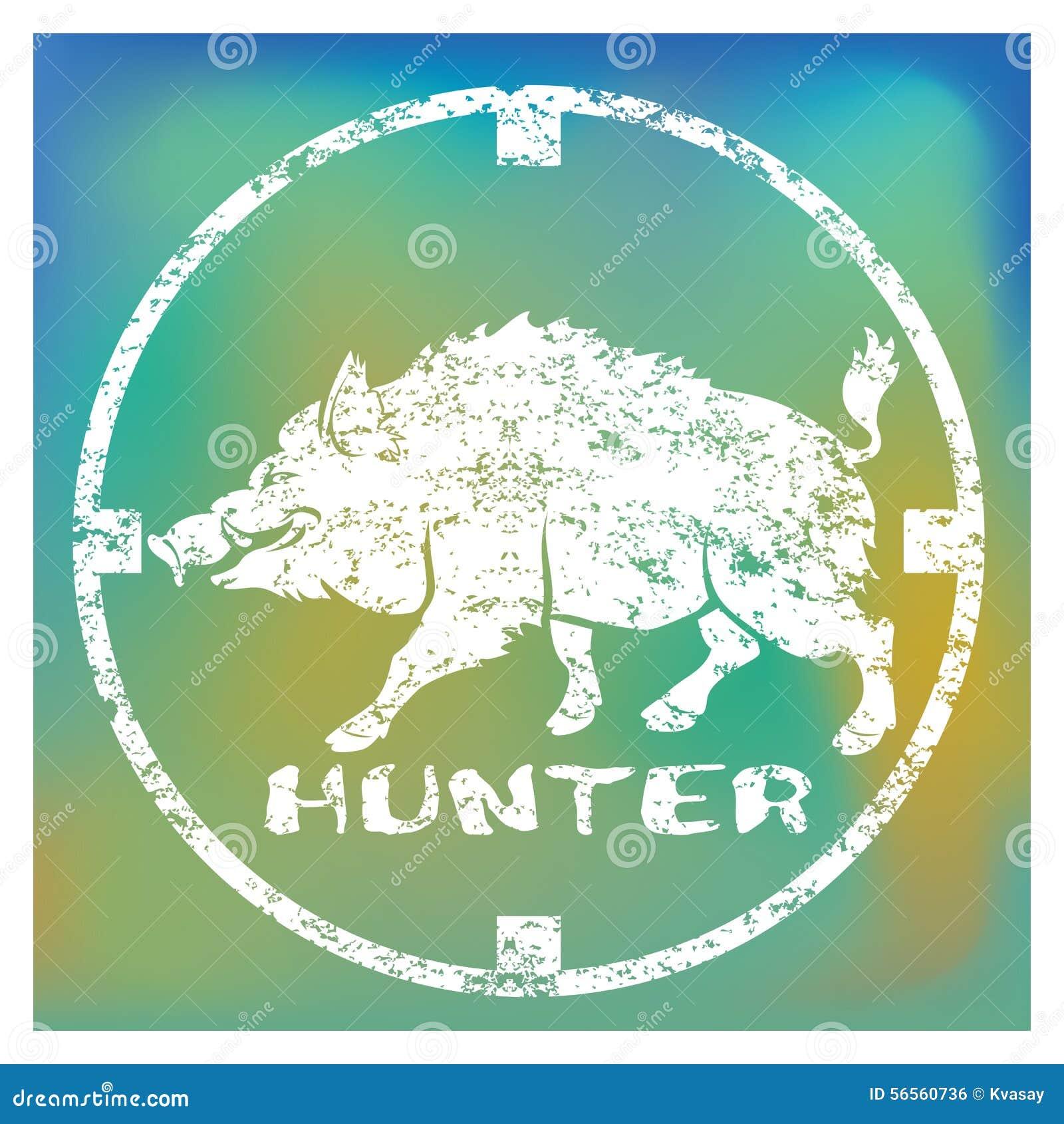 Download κυνηγός απεικόνιση αποθεμάτων. εικονογραφία από γουρούνι - 56560736