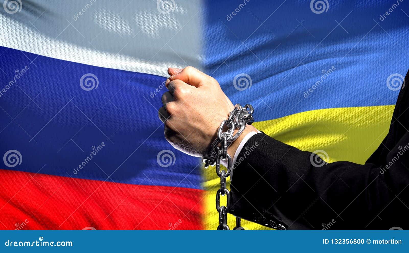 Κυρώσεις Ουκρανία της Ρωσίας, αλυσοδεμένα όπλα, πολιτική ή οικονομική σύγκρουση, επιχείρηση