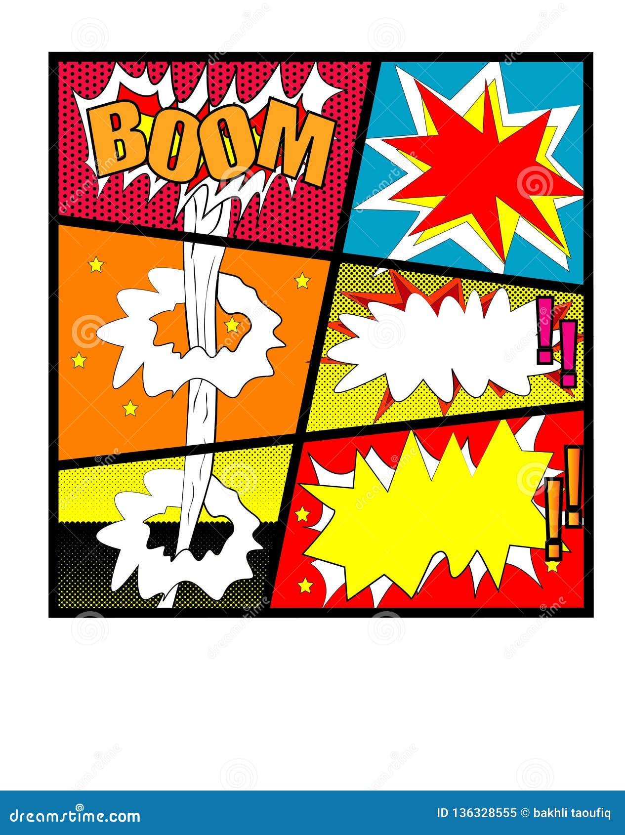 Κωμικό διάνυσμα - κωμική φυσαλίδα που τίθεται λεκτική με το ΒΡΑΧΙΟΝΑ κειμένων Τράπεζα BAMM Κα-ΠΟΔΙ διανυσματικές εκρήξεις κινούμε