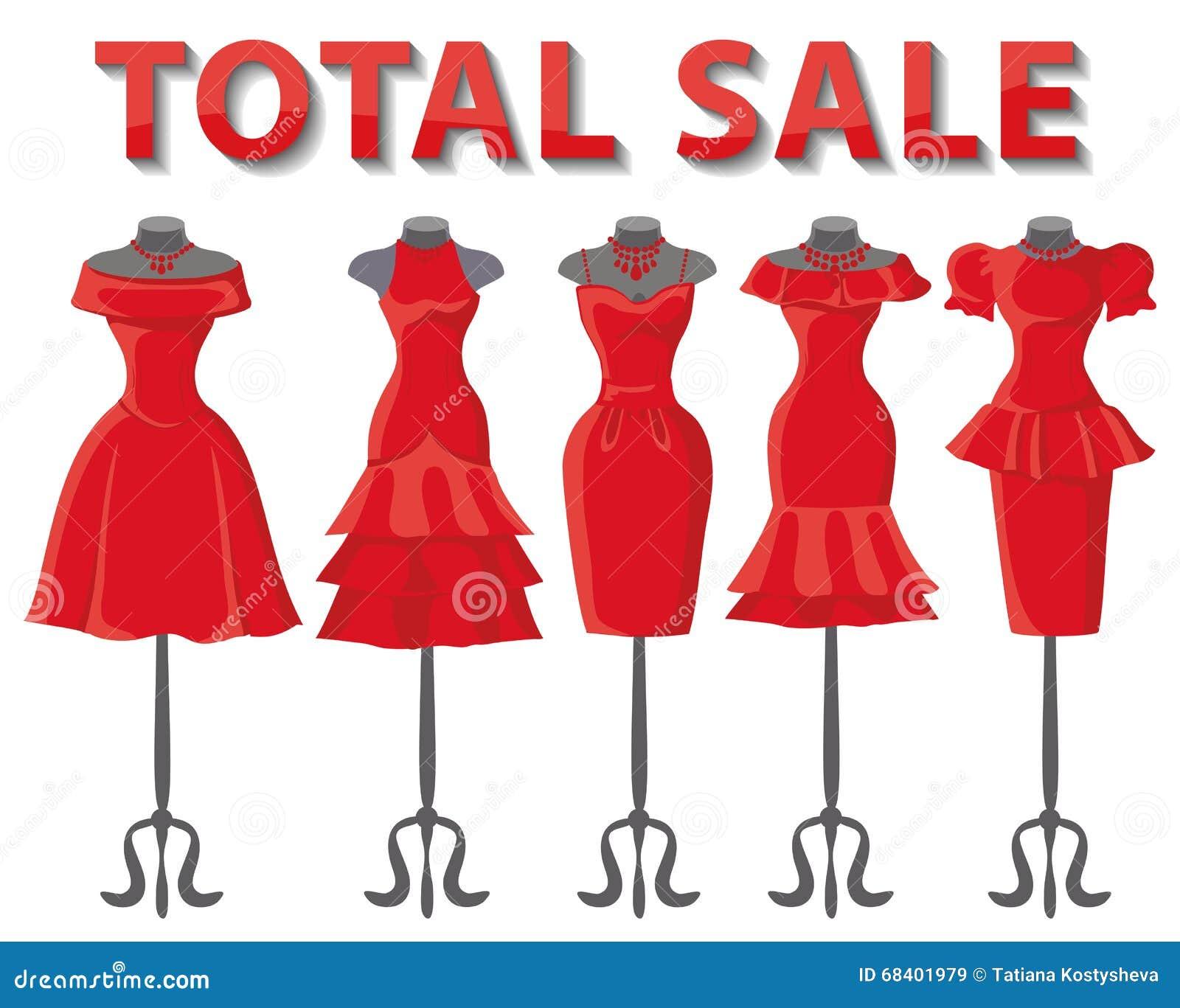 85737ea2d096 Φορέματα γυναικών στα μανεκέν καθορισμένα Κόμμα θερινής μόδας Σύντομη  συλλογή γυναικείων φορεμάτων σχεδίου κόκκινου χρώματος φουστών κομψή  διανυσματική ...