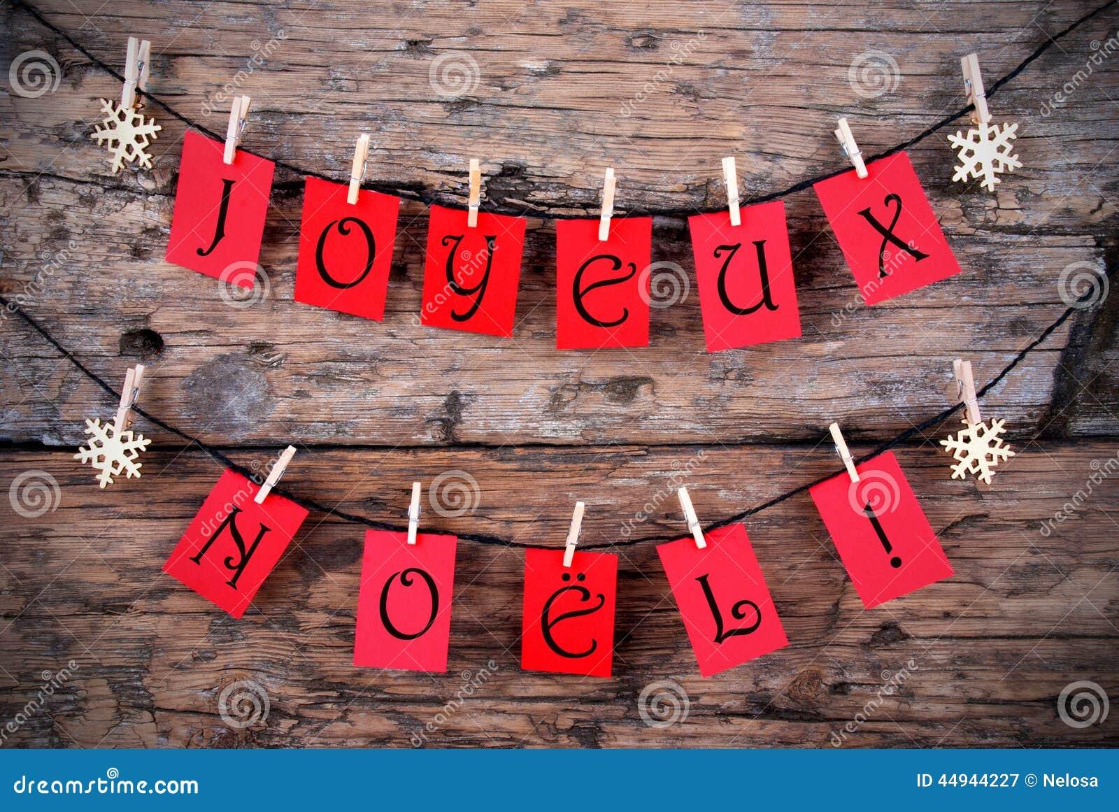 Κόκκινες ετικέττες με Joyeux Noel
