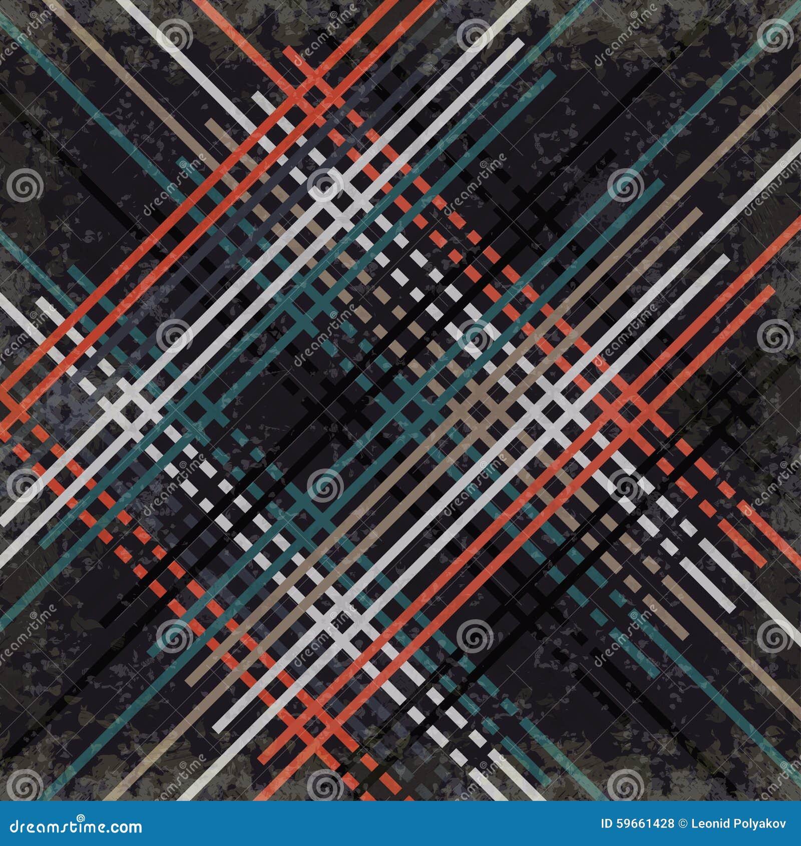 Κόκκινες μαύρες μπλε και γκρίζες γραμμές σε μια σκοτεινή επίδραση απεικόνισης υποβάθρου διανυσματική grunge