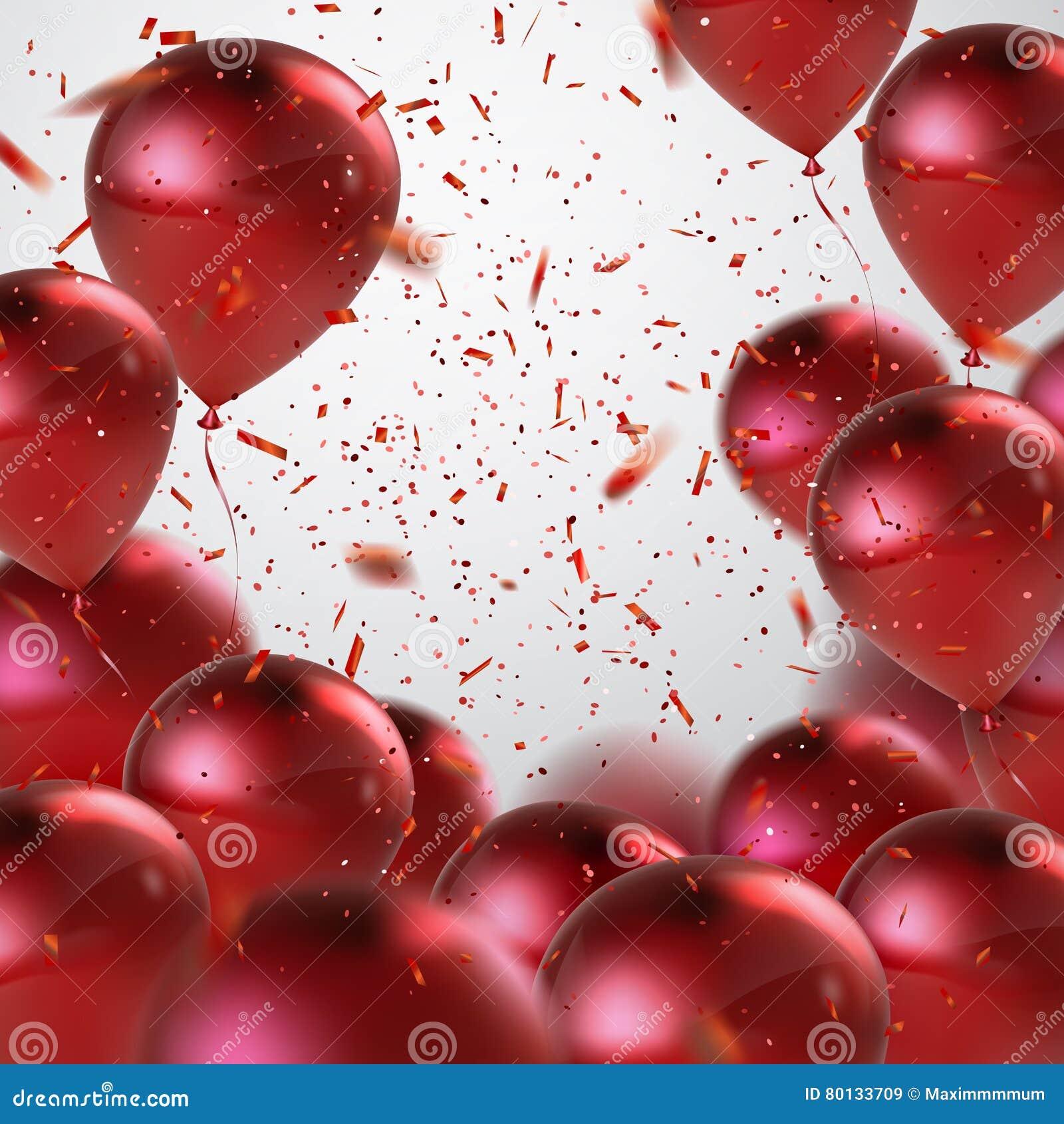 Κόκκινη δέσμη μπαλονιών