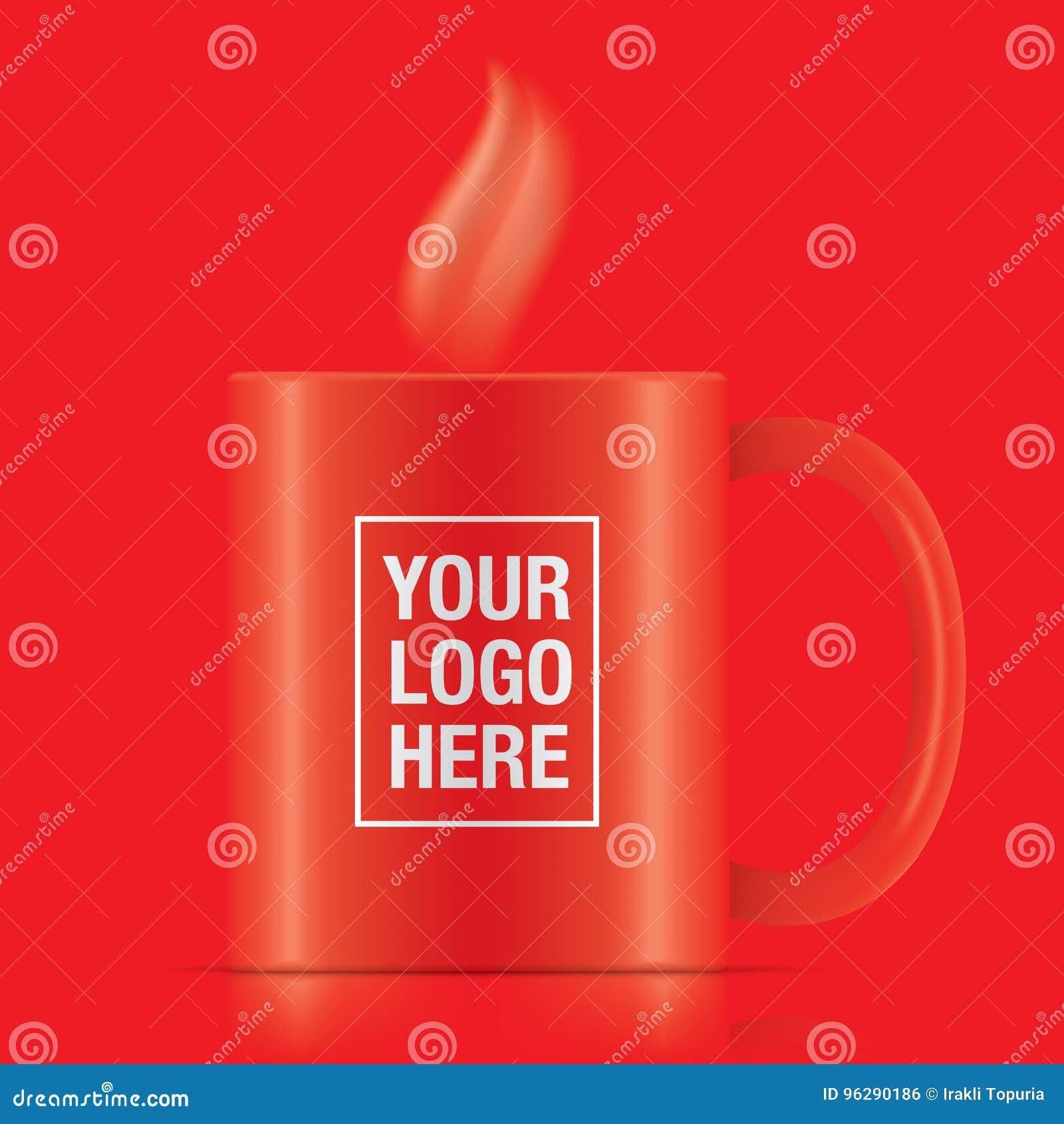 Κόκκινη διανυσματική κούπα καφέ