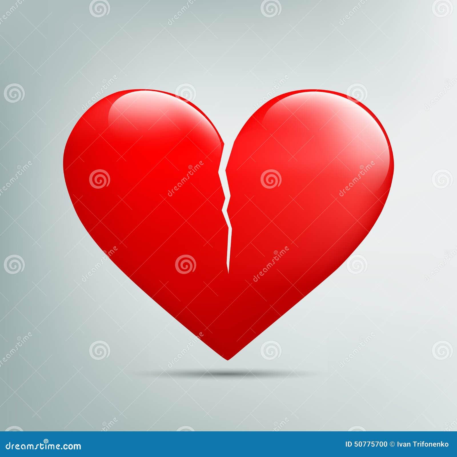 Κόκκινη καρδιά με μια ρωγμή