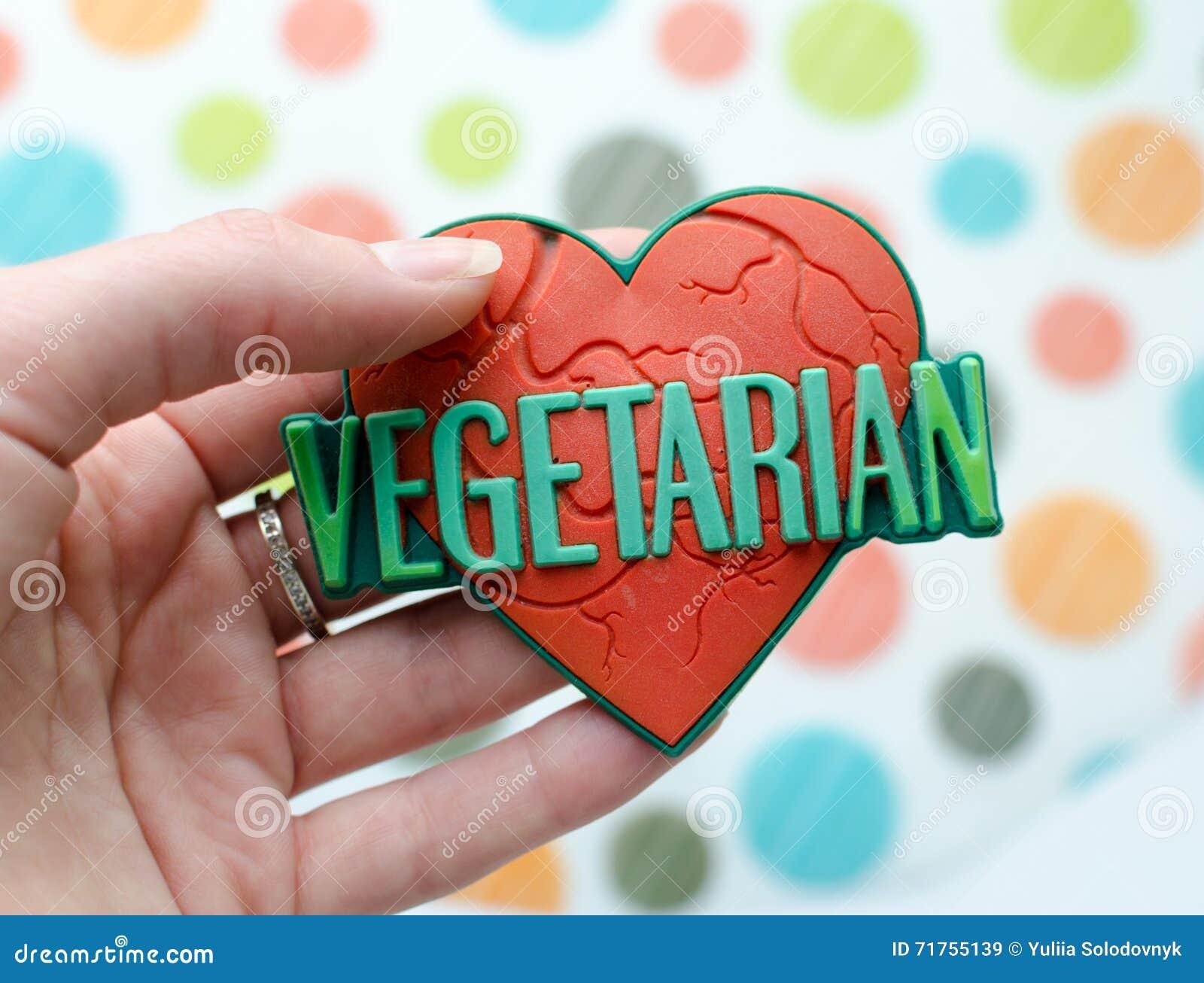 Κόκκινη καρδιά με τον παγκόσμιο χορτοφάγο