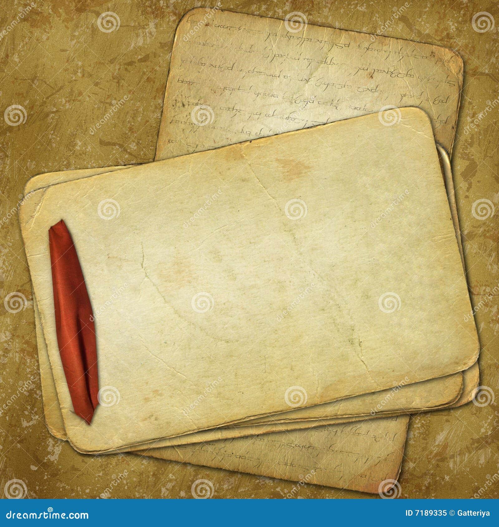 κόκκινη κορδέλλα εγγράφων σχεδίου grunge