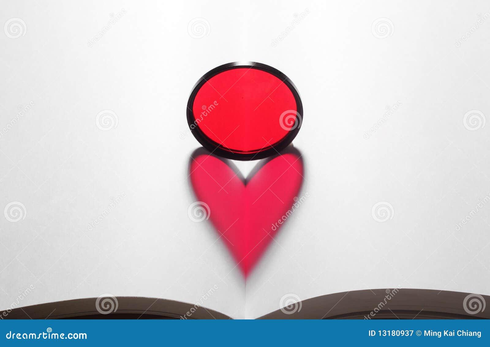 κόκκινη μορφή καρδιών