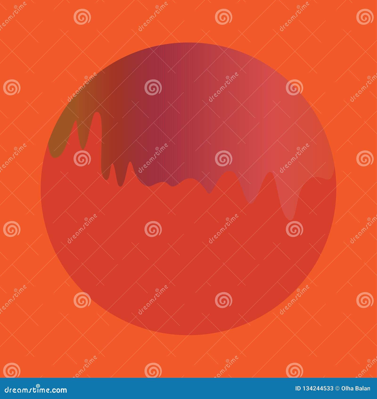 Κόκκινη πορτοκαλιά ρευστή μορφή