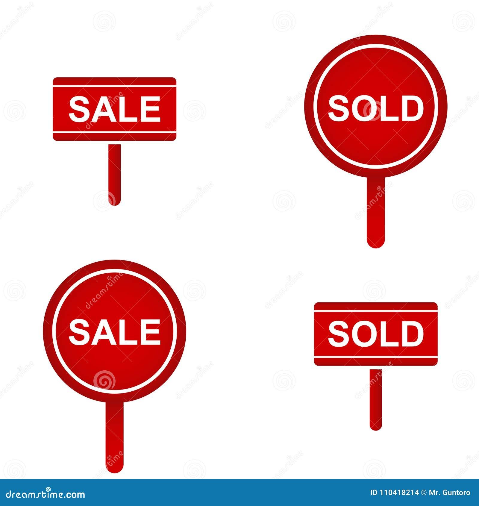 Κόκκινη πωλημένη συλλογή σημαδιών