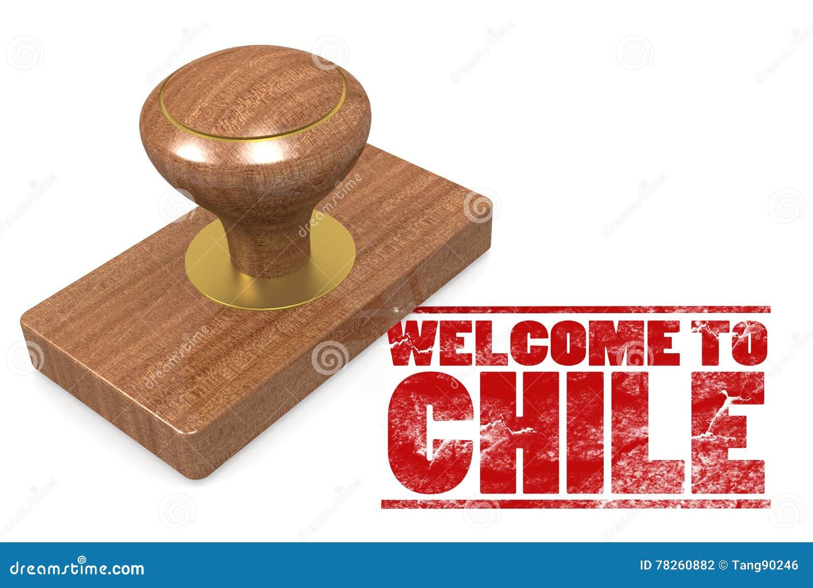Κόκκινη σφραγίδα με την υποδοχή στη Χιλή