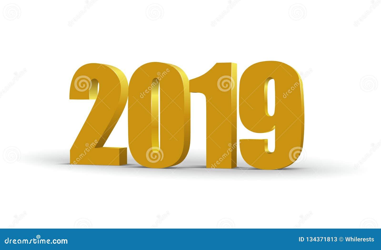 2019 κόκκινοι τρισδιάστατοι αριθμοί καλής χρονιάς Χρωματισμένο προοπτική σύμβολο εγγράφου επίσης corel σύρετε το διάνυσμα απεικόν