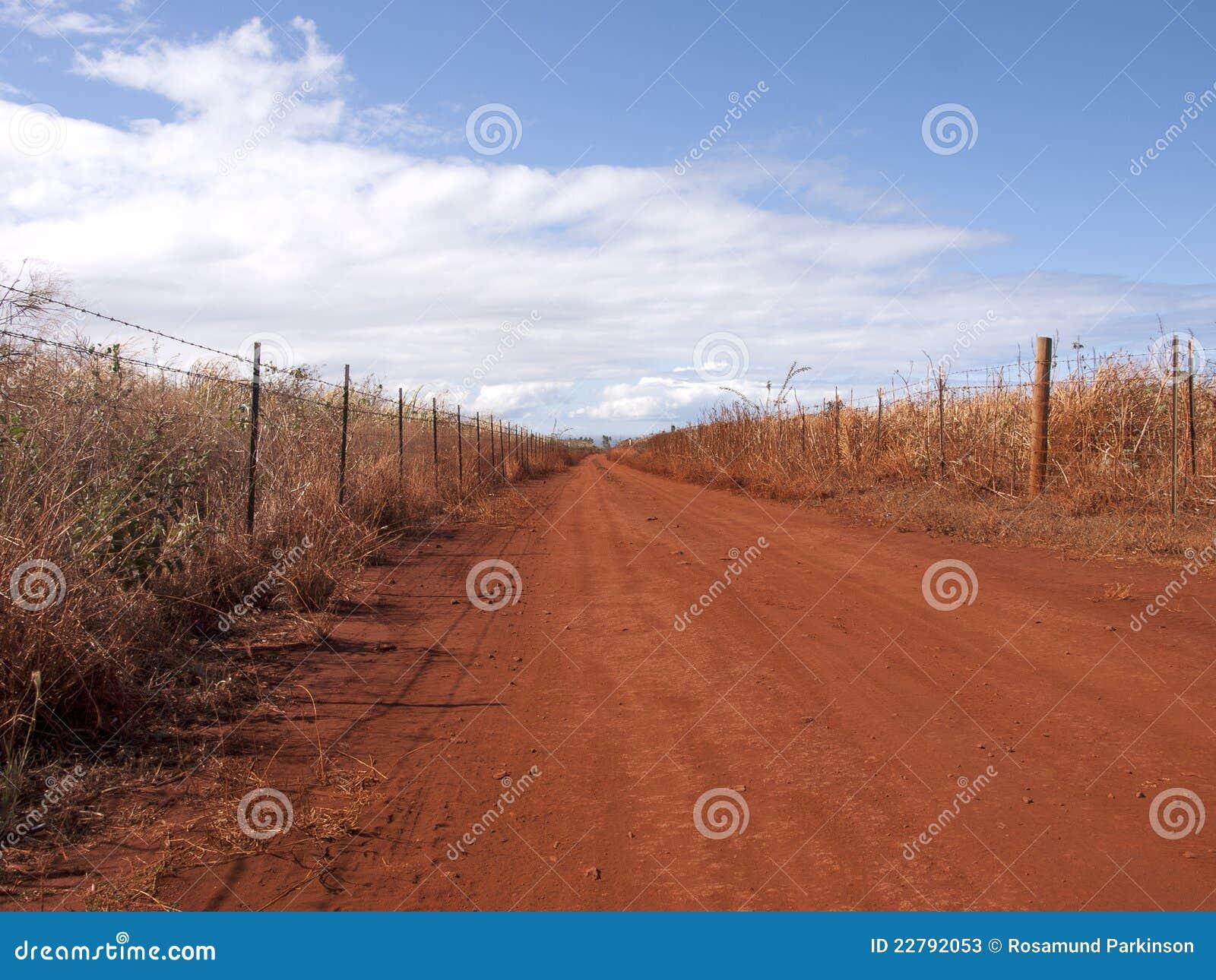 κόκκινος δρόμος ρύπου