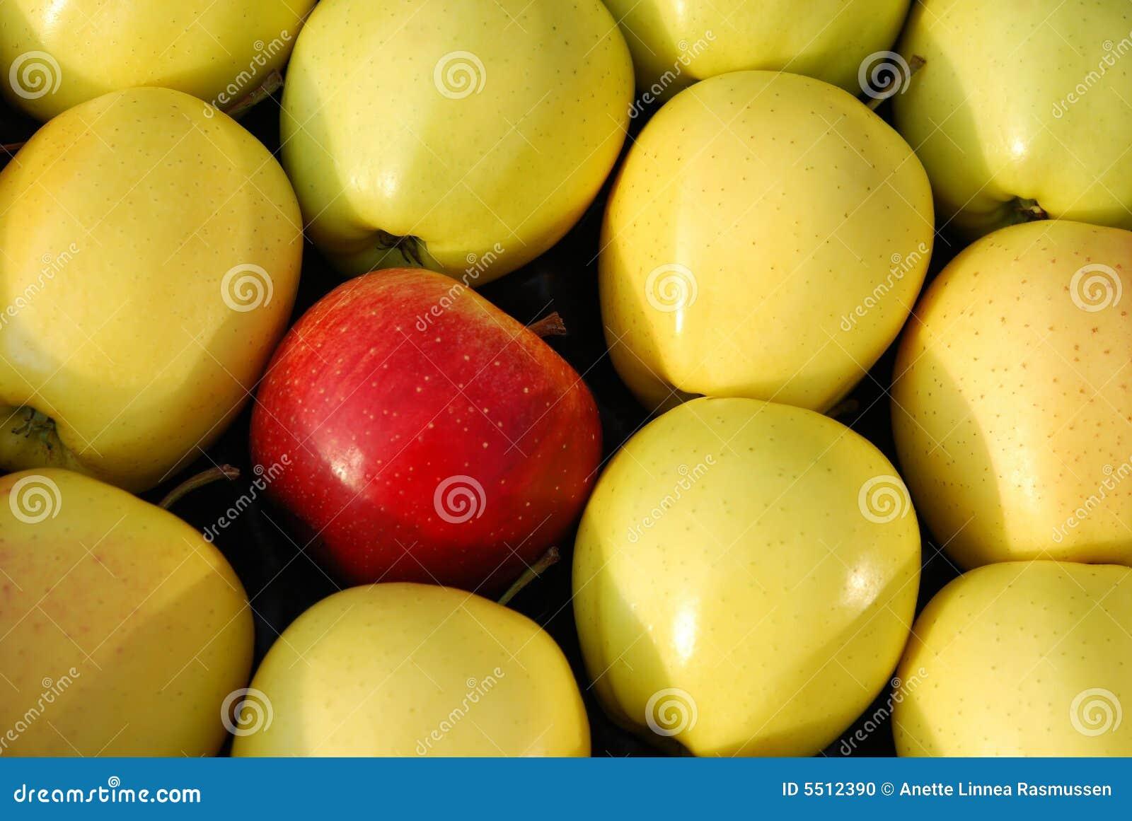 κόκκινος κίτρινος μήλων