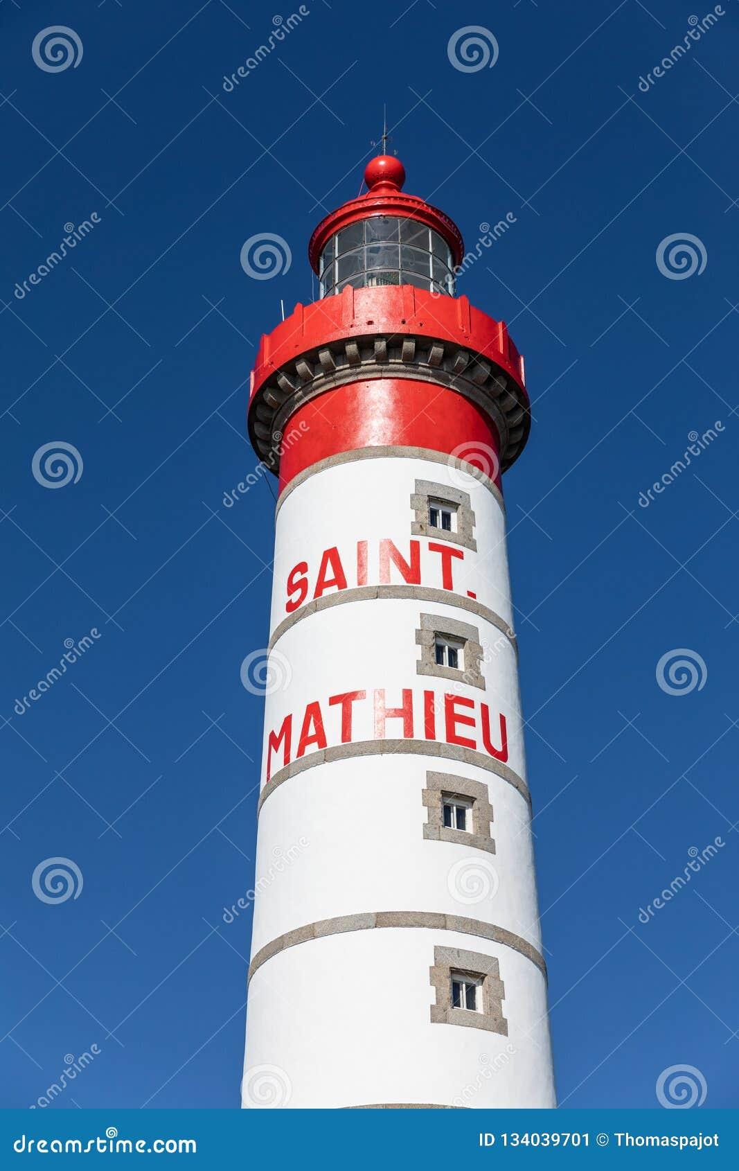 Κόκκινος και άσπρος φάρος Άγιος-Mathieu