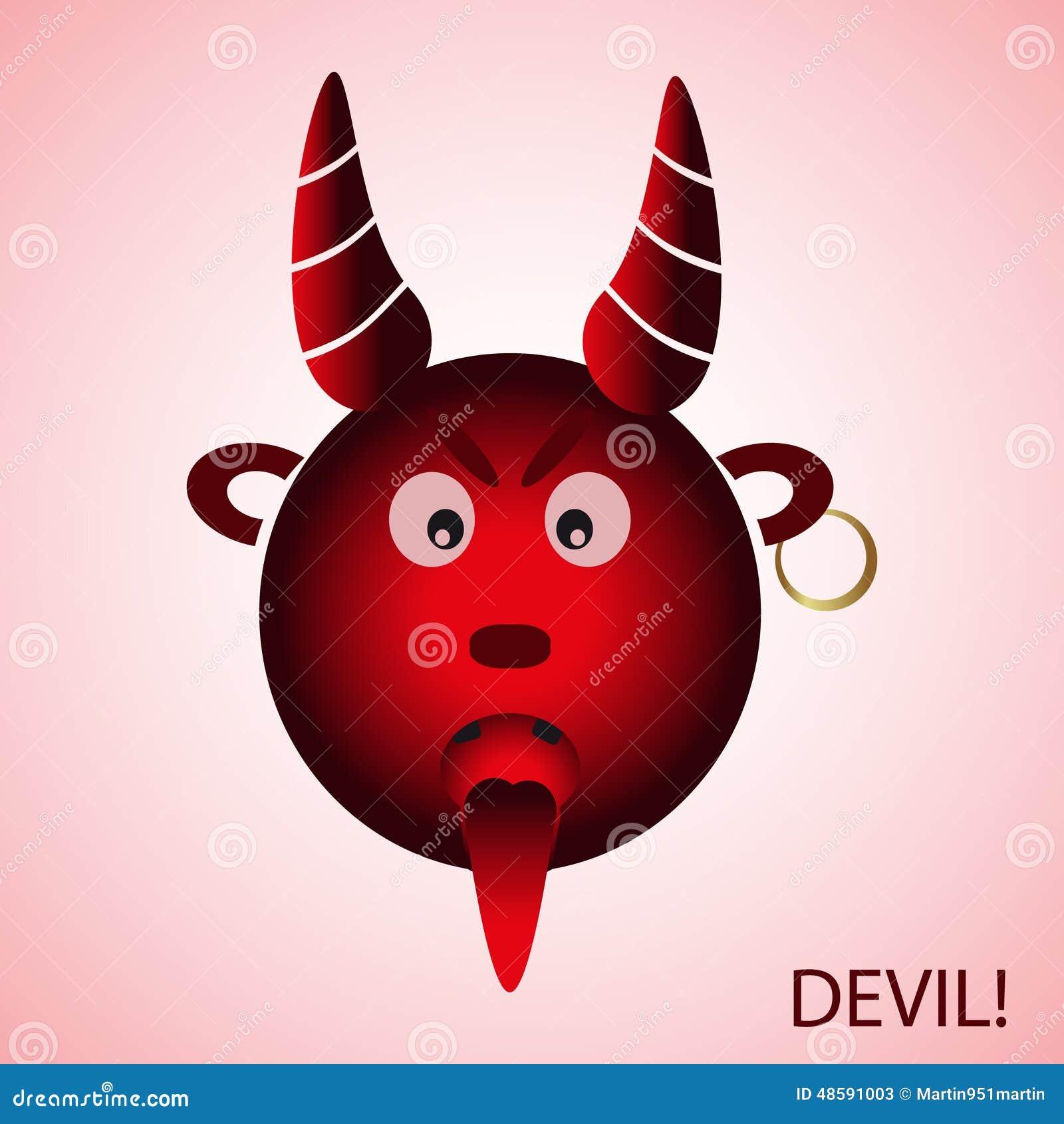Κόκκινος κακός διάβολος κινούμενων σχεδίων από την κόλαση