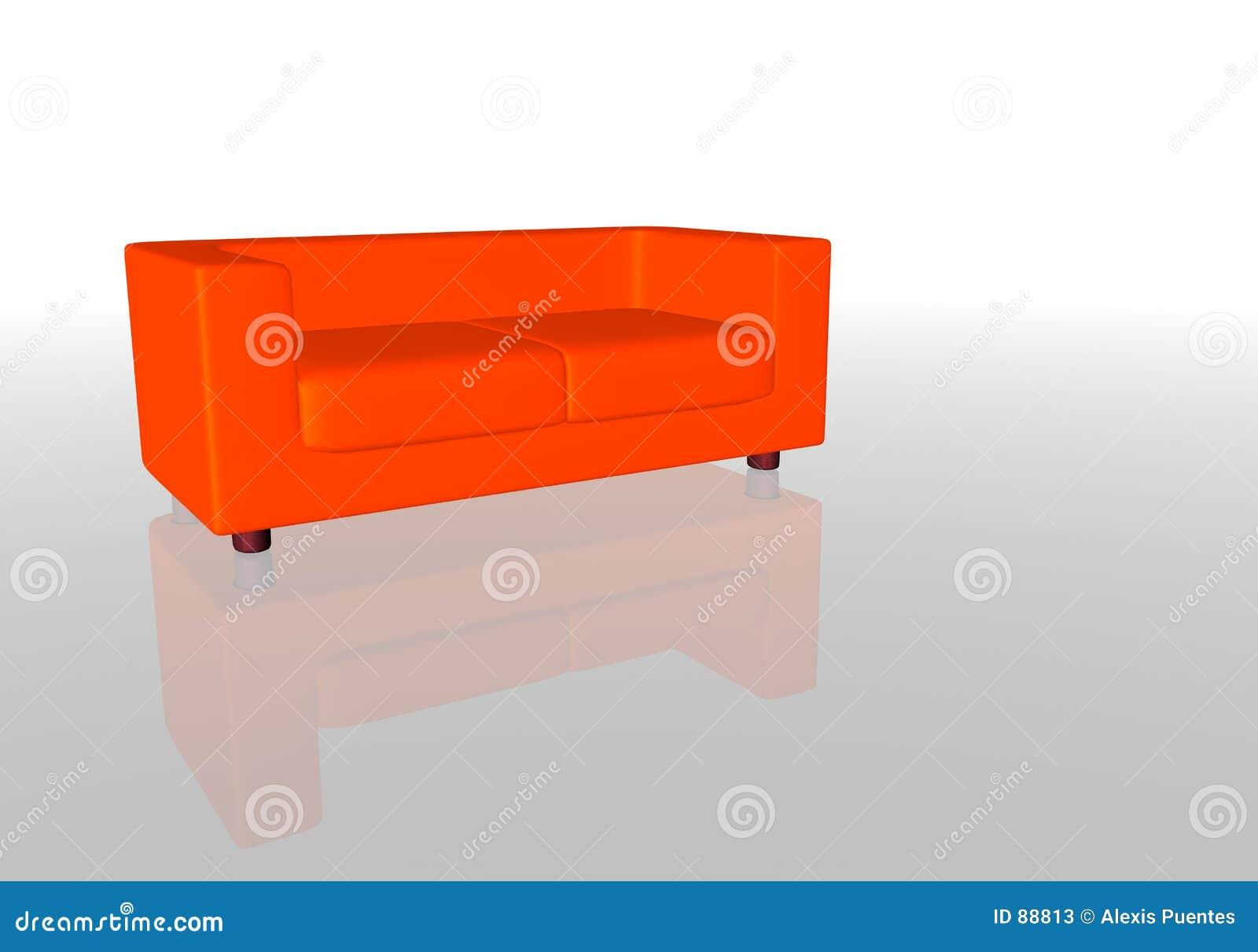 κόκκινος καναπές