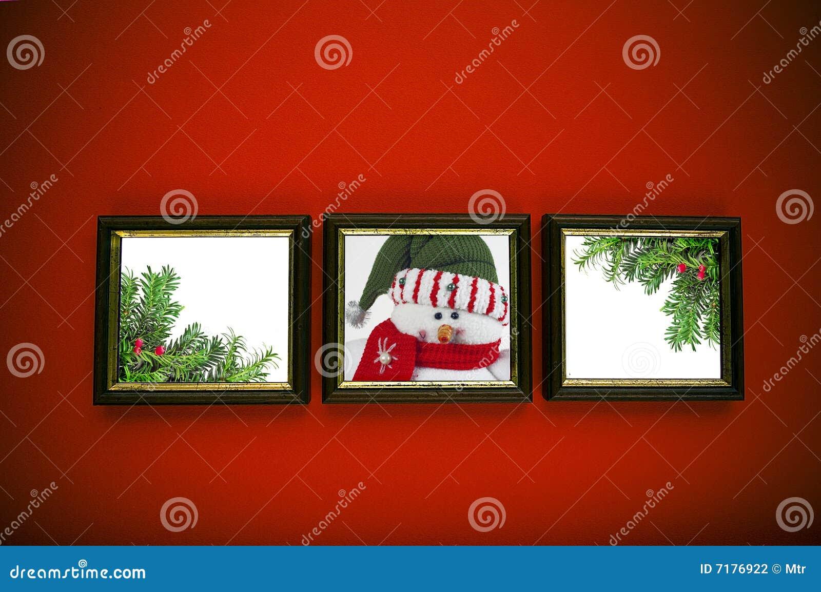 κόκκινος τοίχος πλαισίω&n