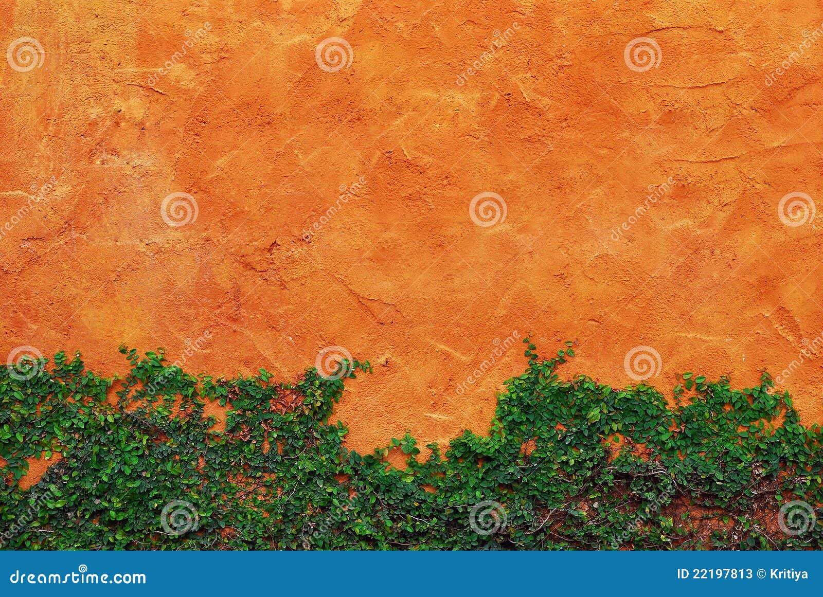 κόκκινος τοίχος πράσινων &ph